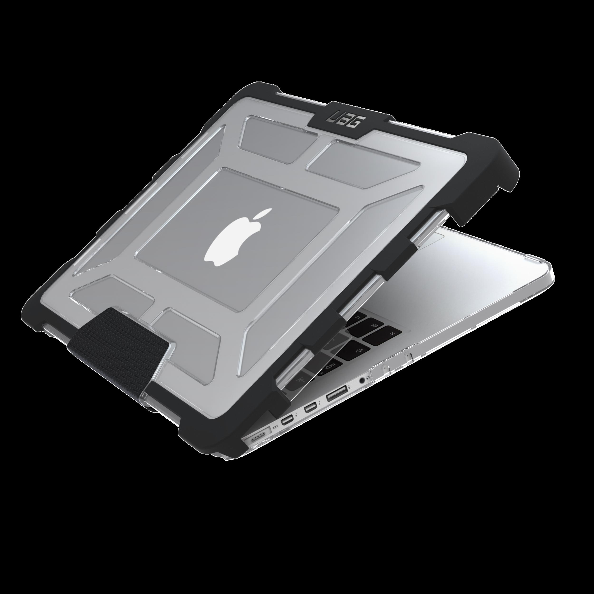 Protection renforcee MacBook PRO Retina 13 avec Bandeau lumineux Secure Transparent