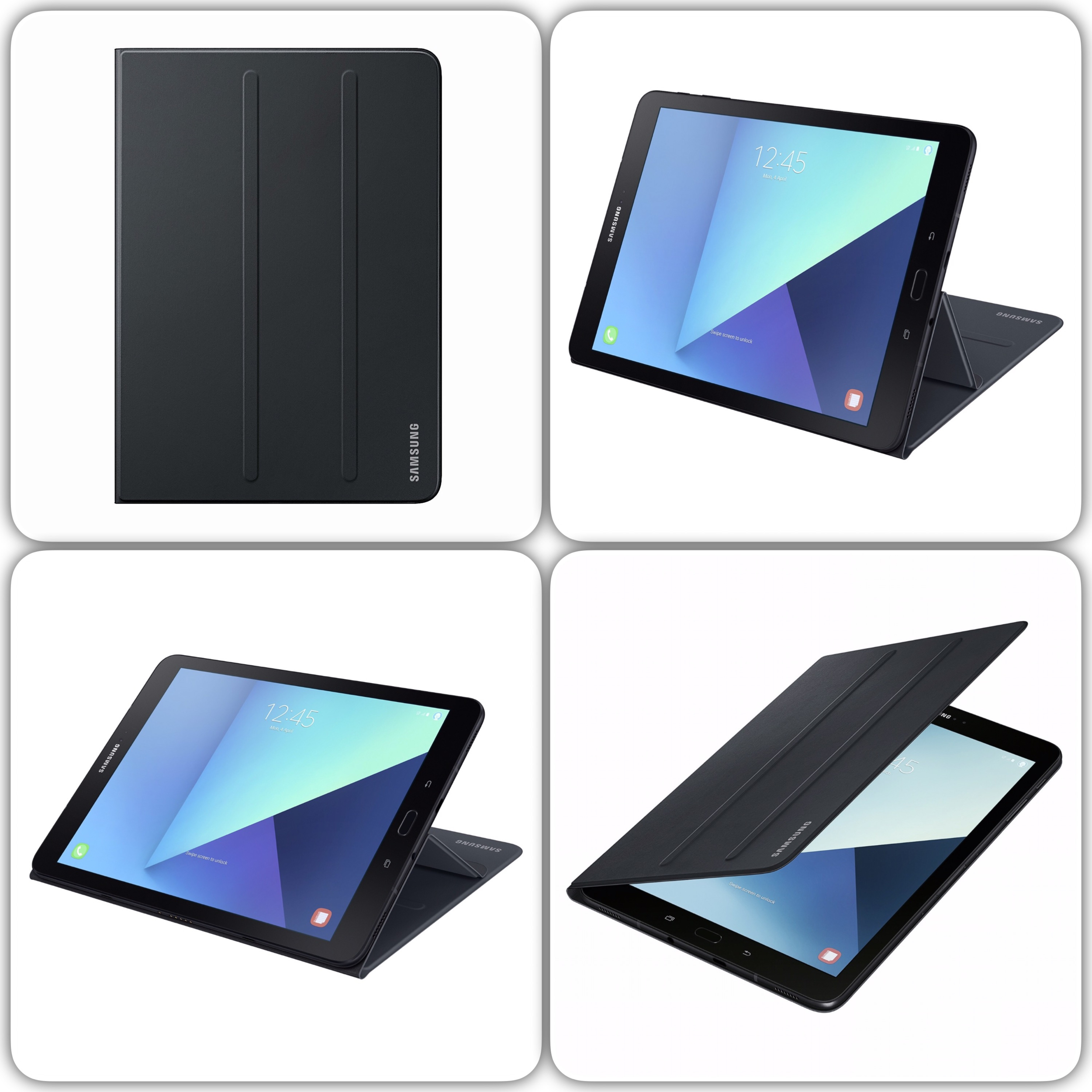 Samsung Officiel Book Cover Galaxy TAB S3 9.7 pouces Anthracite