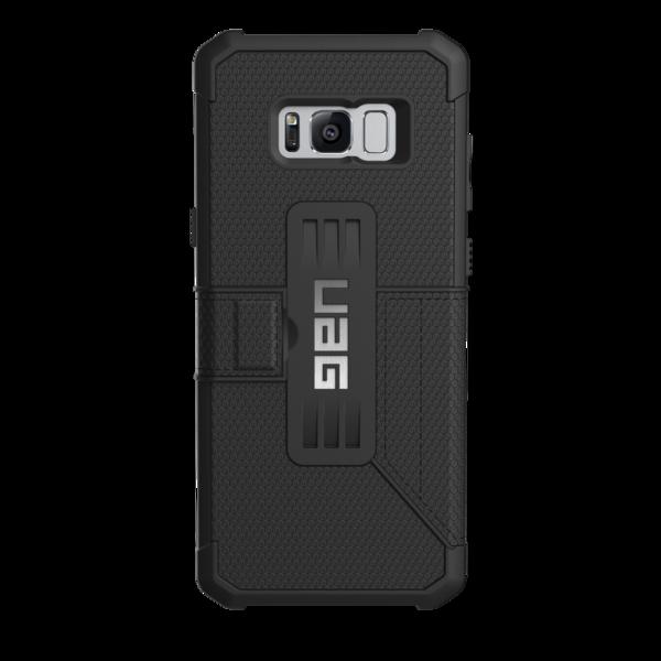 back Etui Folio Coque de protection Galaxy S8+ 6.2 pouces Armure 360° Noir