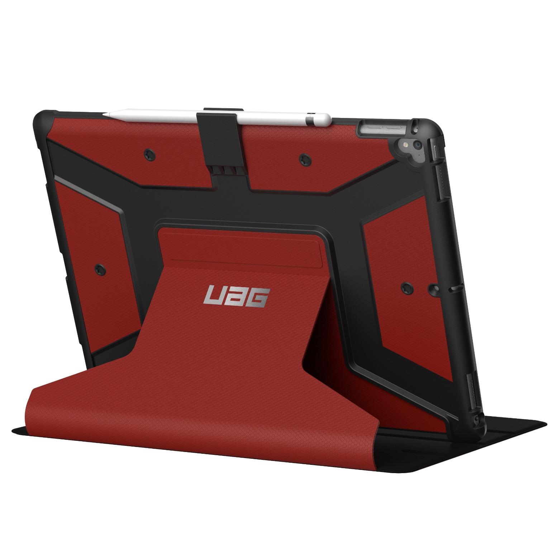 Etui New iPad PRO 12.9 pouces 2017 Folio et Coque amovible Metropolys Rouge Magma