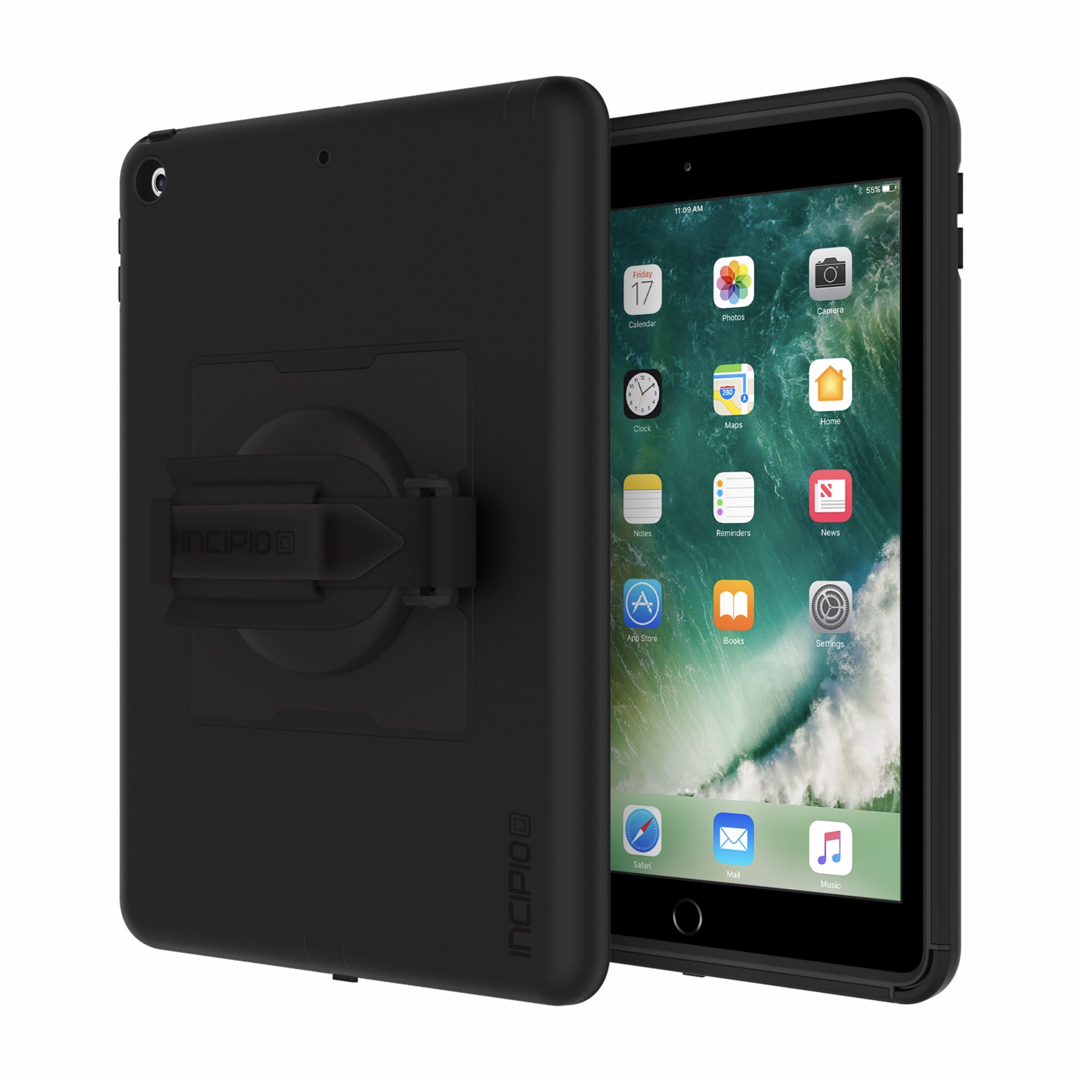 Coque renforcee Rotating 360 iPad 2017 9.7 pouces Harnais main integre
