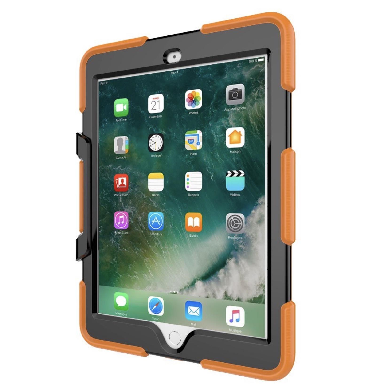 Coque New iPAD 9.7 pouces Protection renforcée Toronto Orange