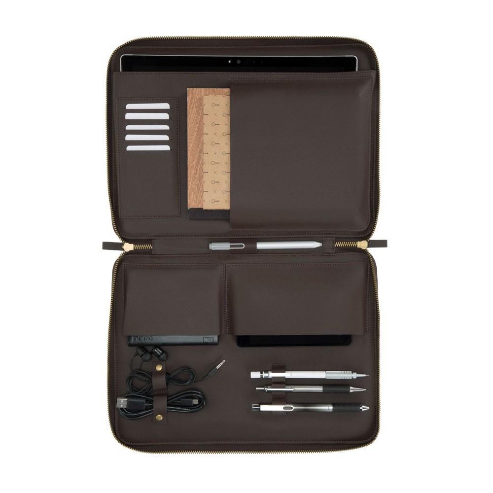 Housse Multi poches Protection et transport SURFACE GO 10 pouces Carnaby Bordeaux et Gris