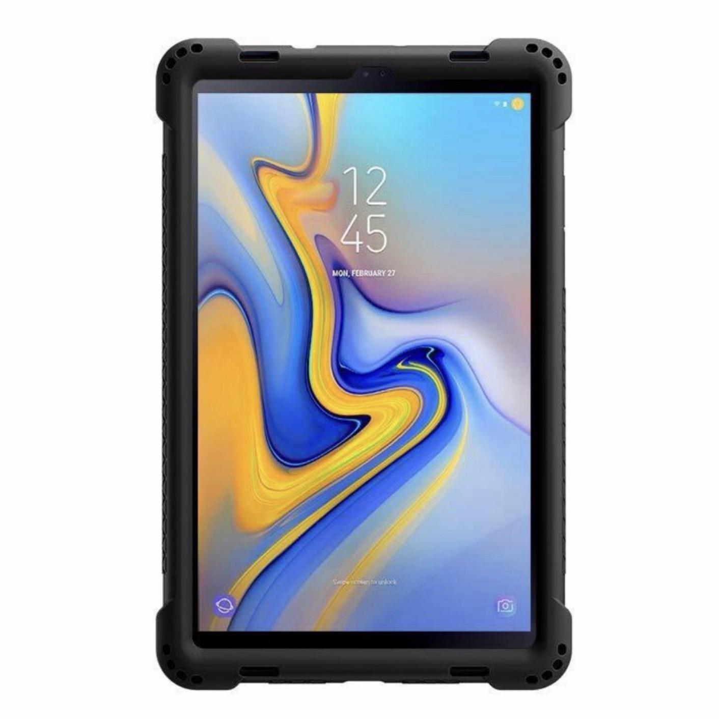 2 en 1 Coque Silicone Premium et verre de protection ecran Samsung Galaxy TAB A 10.5