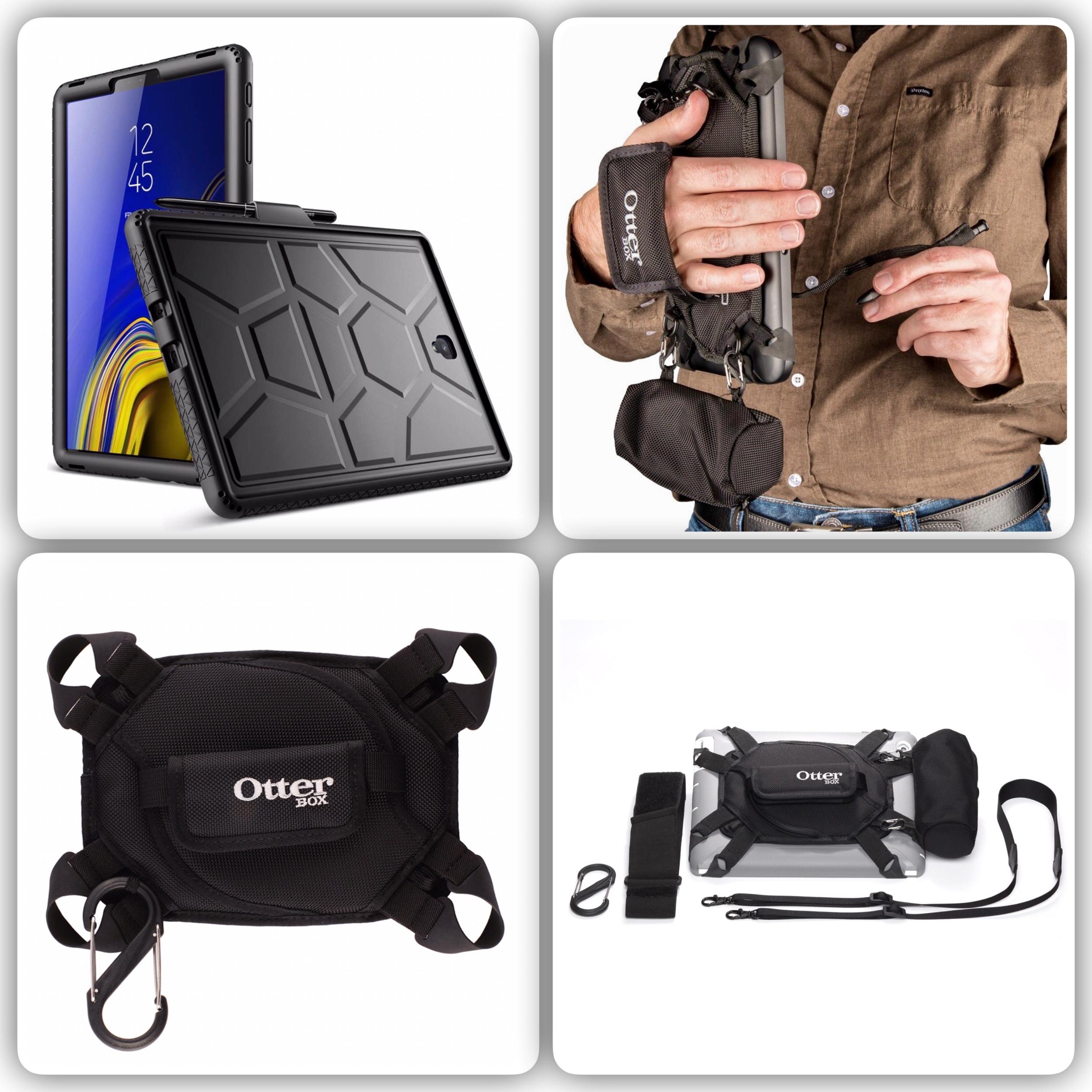 Pack 2 en 1 Galaxy TAB S4 10.5 pouces Harnais Sangle main et Coque Silicone renforce Premium