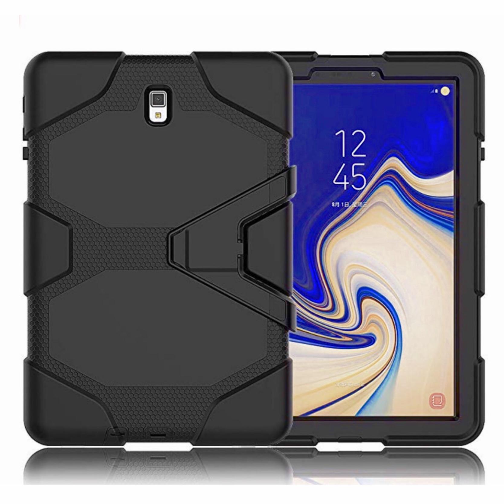 Galaxy TAB S4 10.5 pouces Coque renforcee et film rigide ecran Vegas Noir