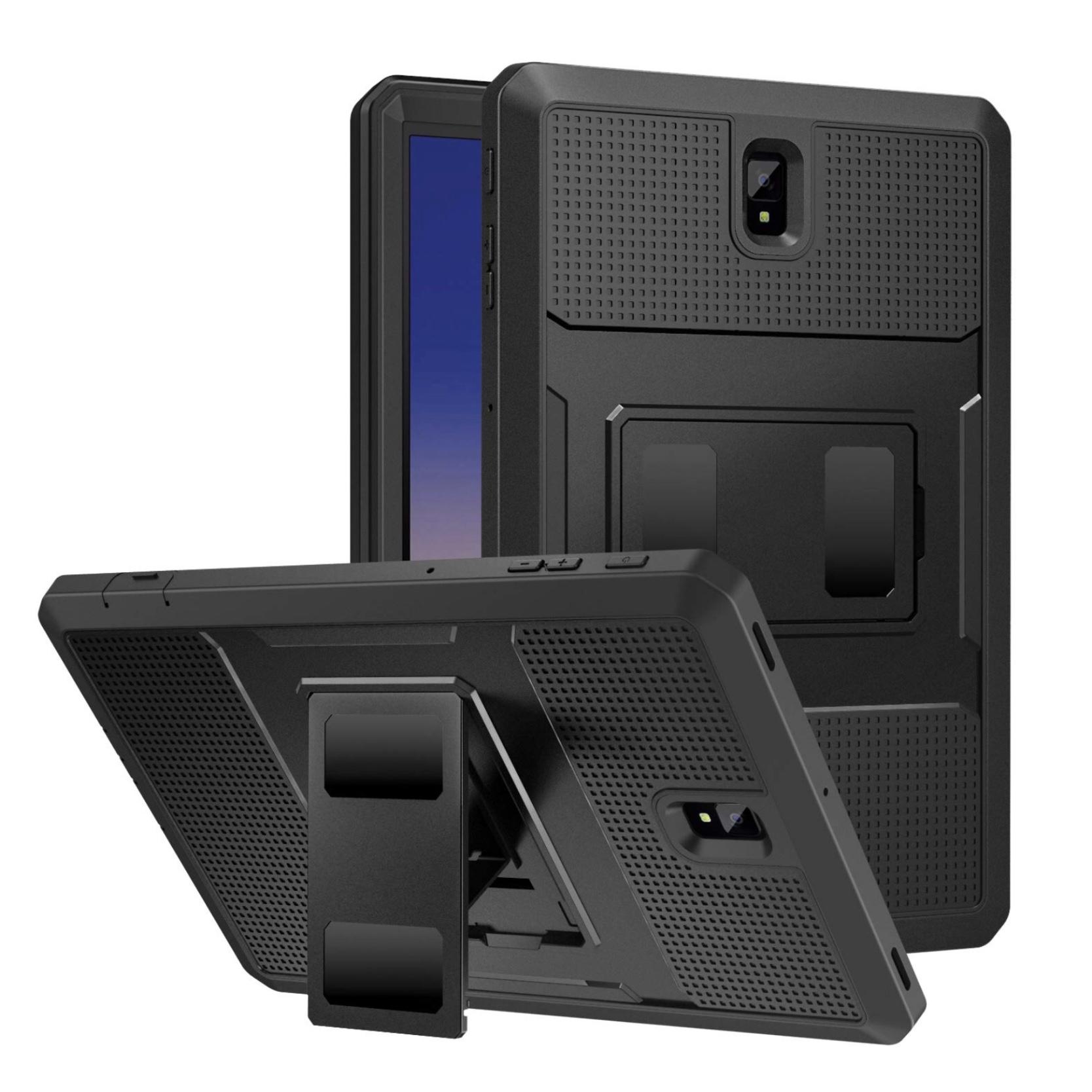 Galaxy TAB S4 10.5 pouces Coque de protection Pied et film rigide ecran Pro Tab Noir