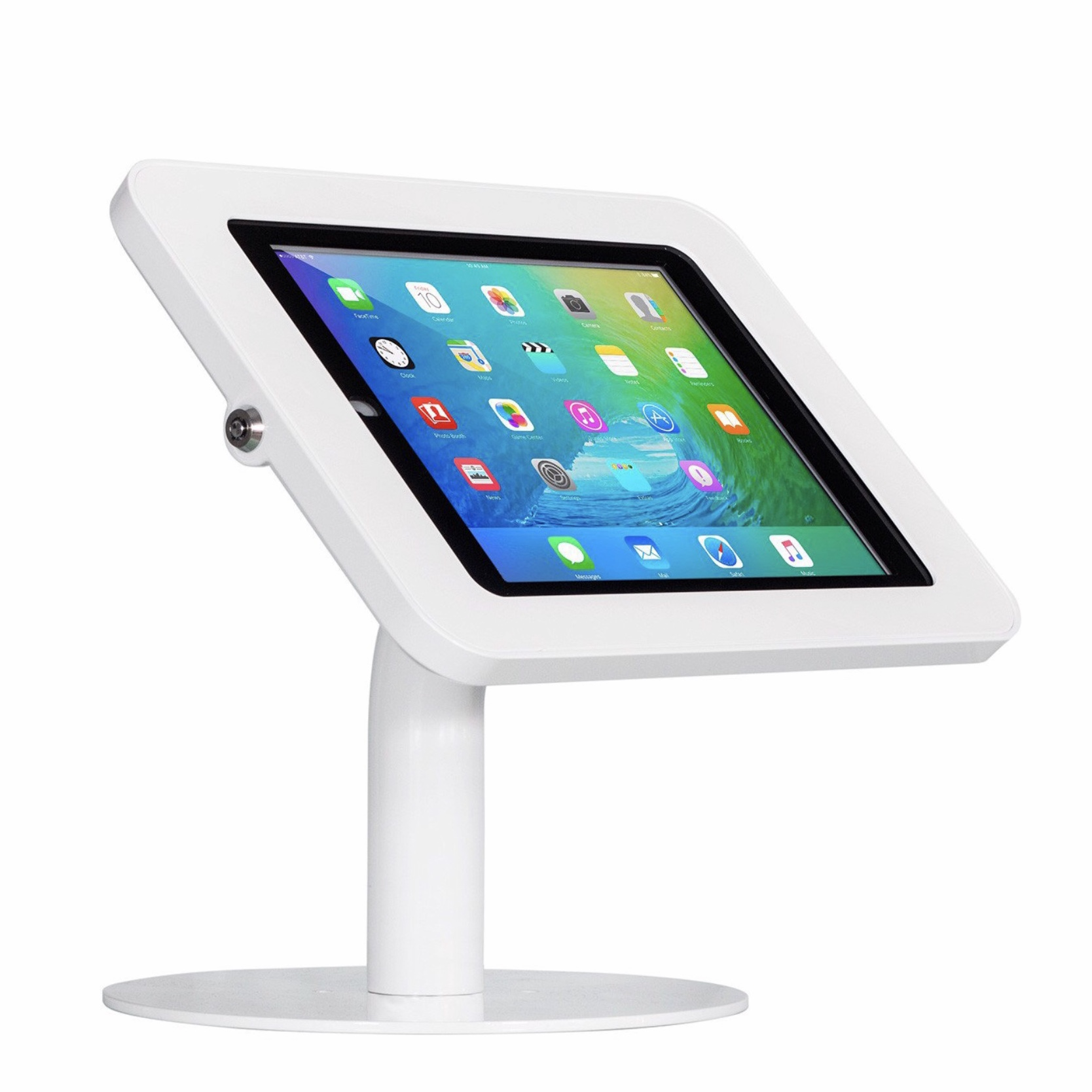 Borne de presentation de table ipad 9.7 pouces New Fullpad Blanc