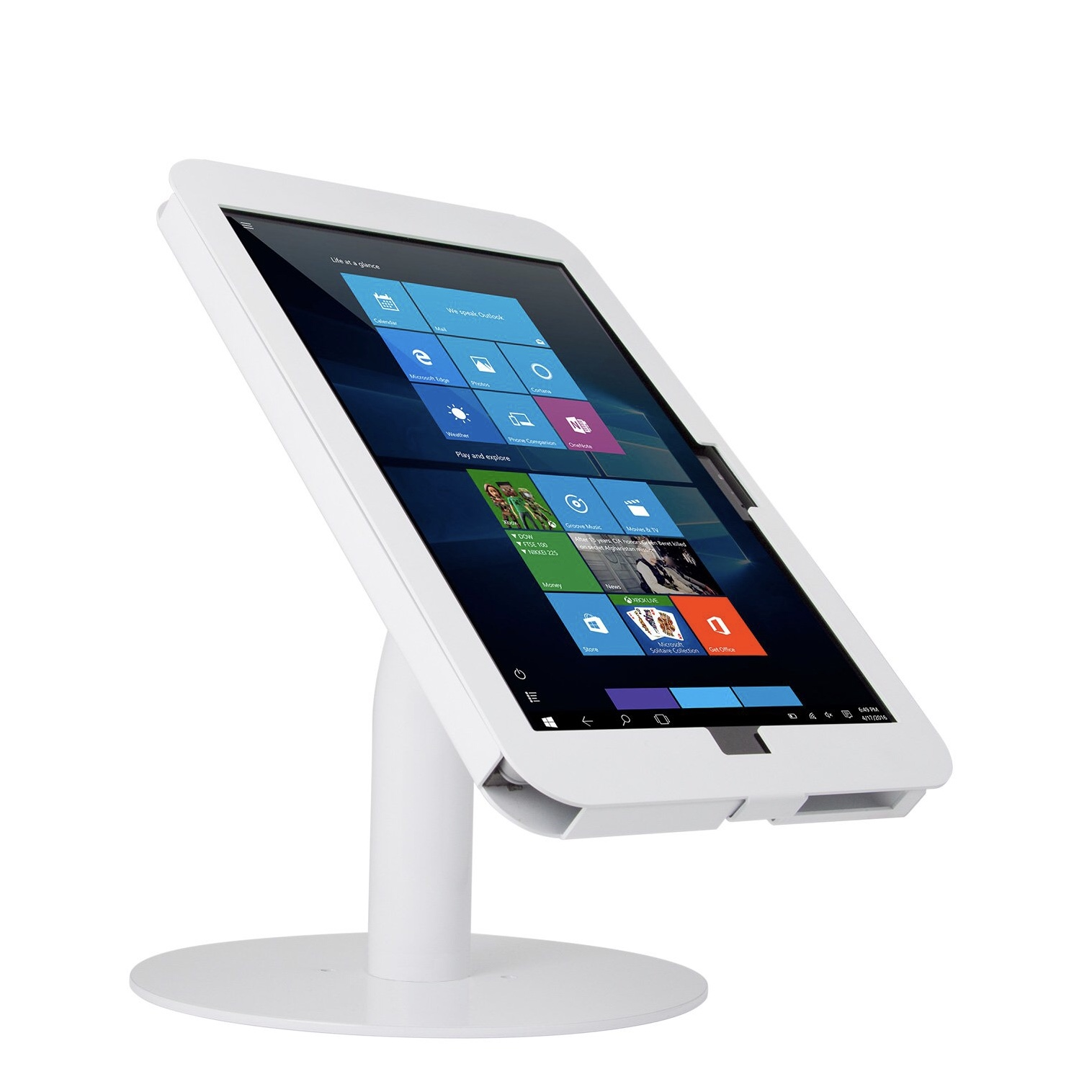 Stand de table Support de presentation Surface PRO 12.3 Premium coude Blanc