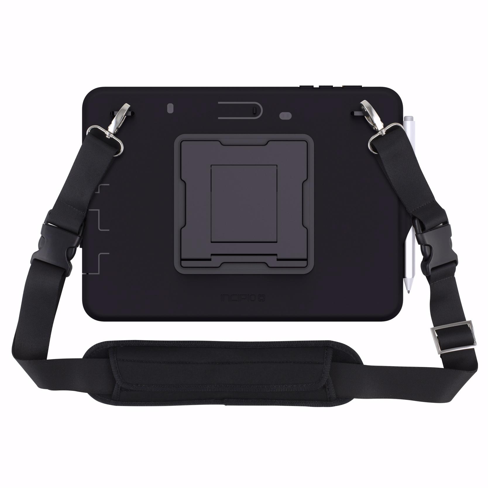 Surface GO 10p Coque renforcee avec sangle main et Tour de cou ou epaule