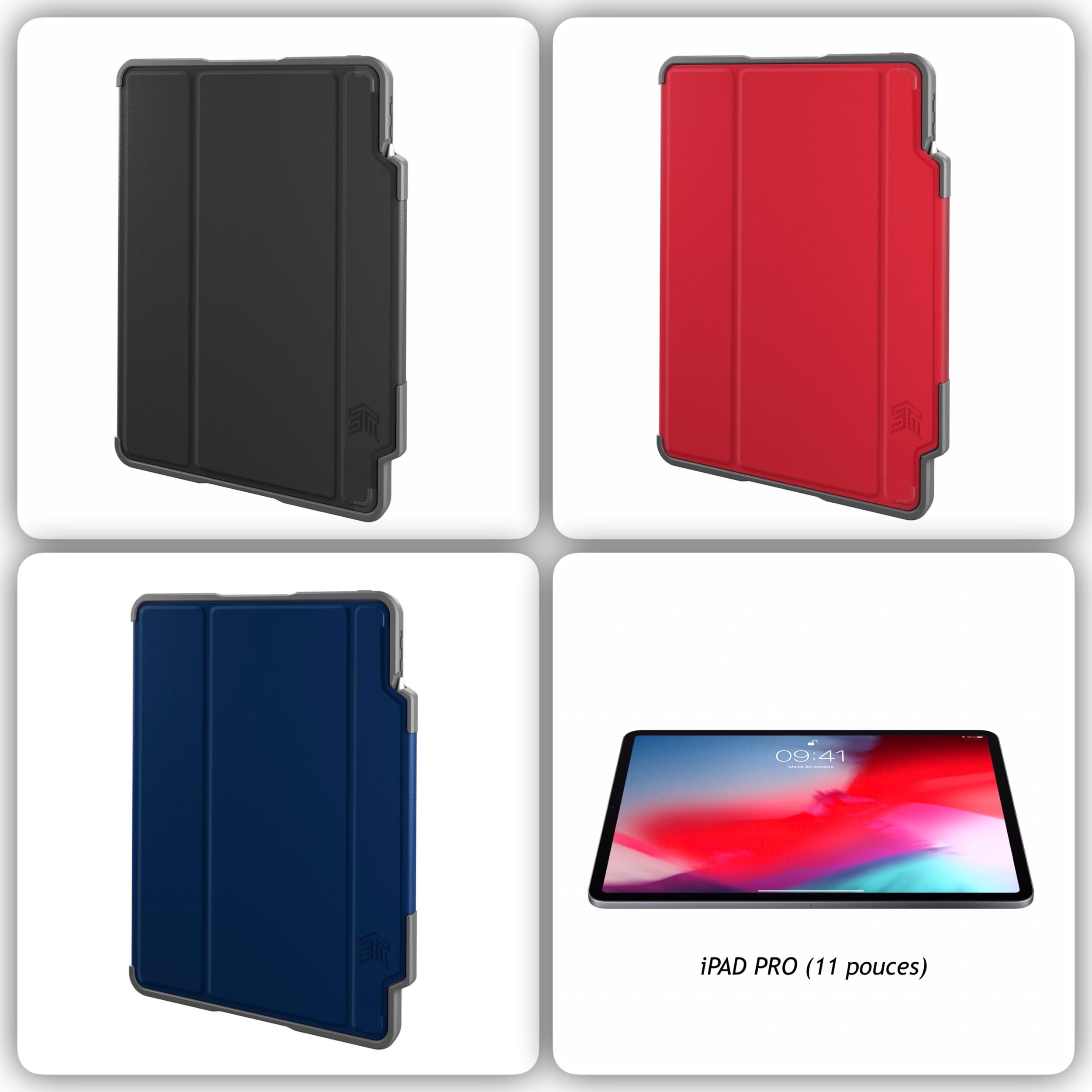 Folio de Protection iPad PRO 2018 11 pouces Dux Plus Support Stylet