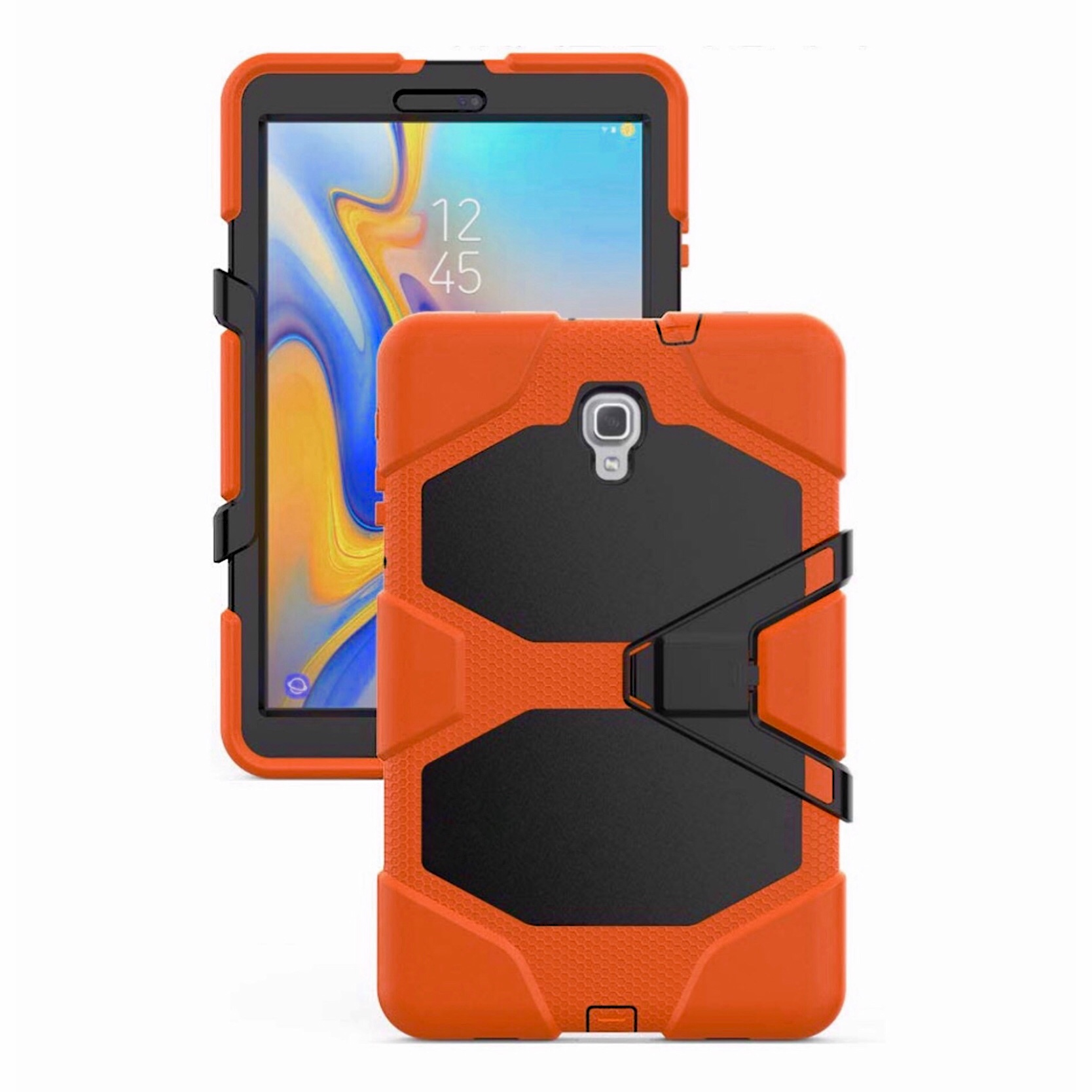 Coque Pro avec film rigide ecran Samsung Galaxy TAB A 10.5p Vegas Orange