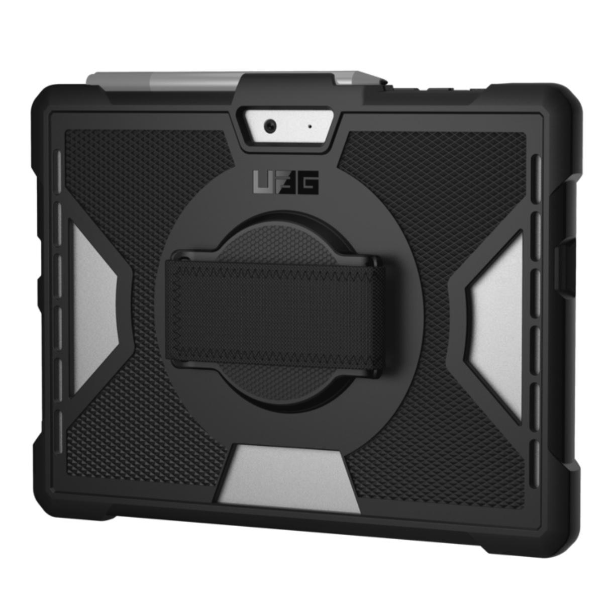 Surface GO 10 pouces Coque renforcee souple Sangle main Bulk Noir
