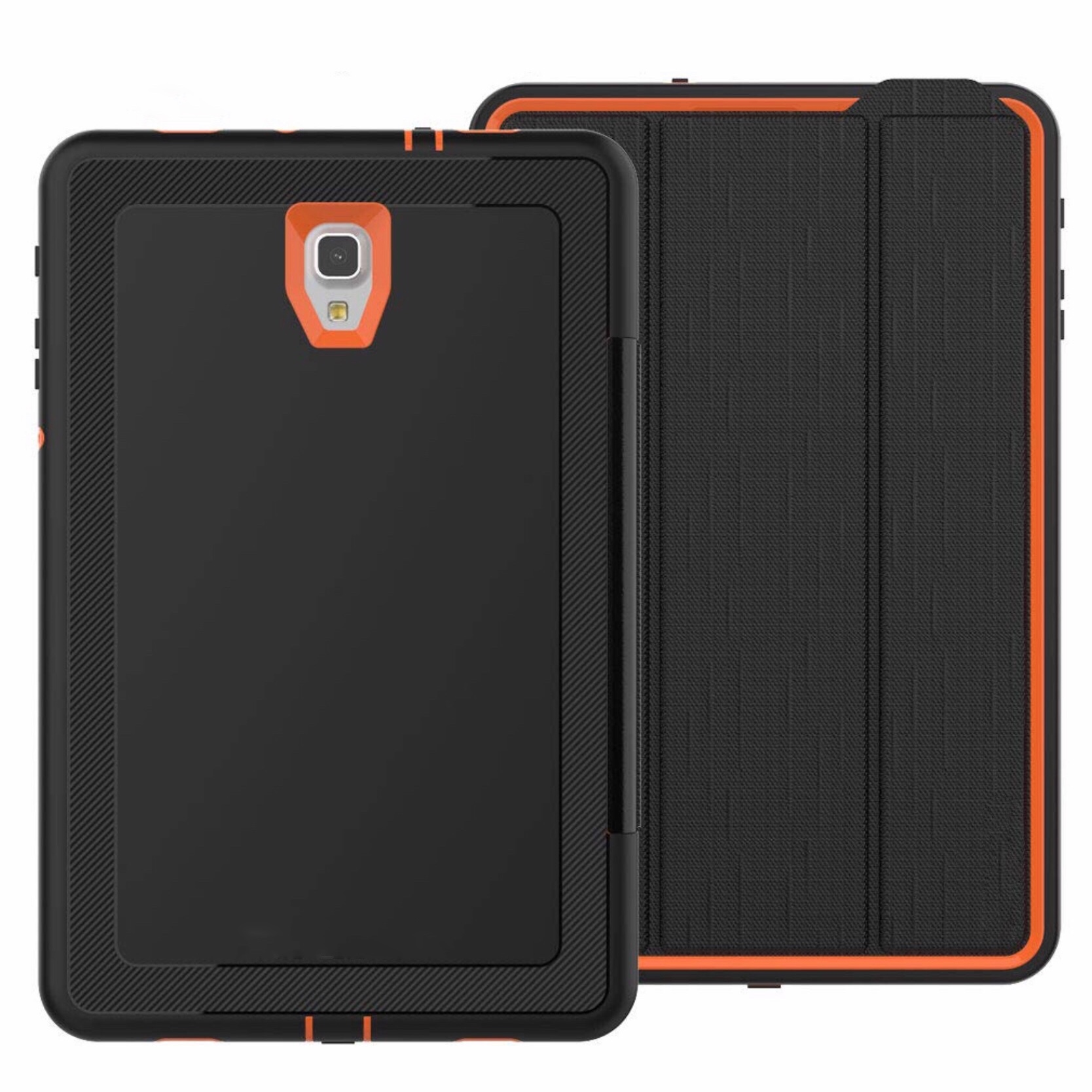 Galaxy TAB A 10.5 pouces Etui Folio de protection Sidney Orange et Noir