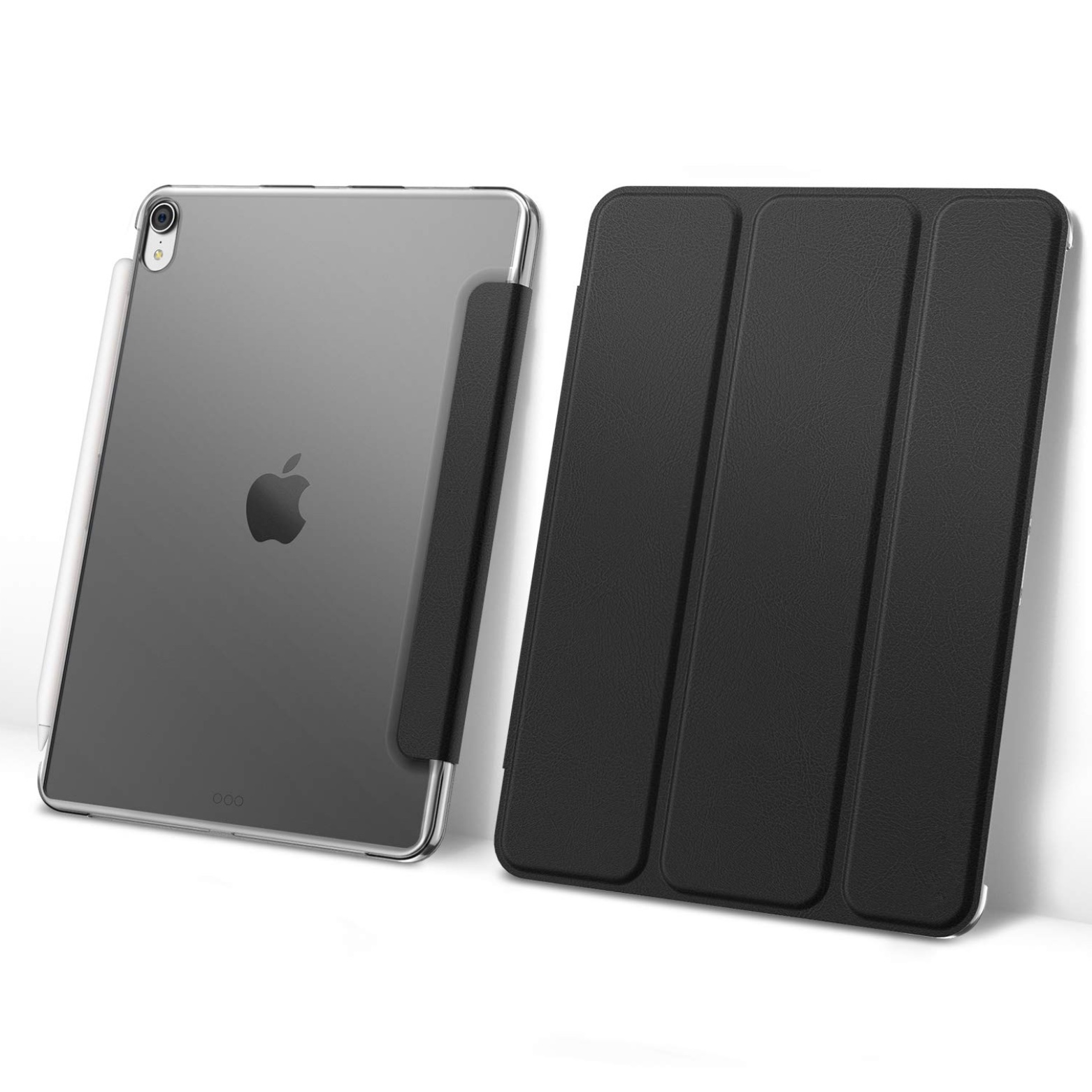 2 en 1 Etui Folio de protection iPAD PRO 2018 12.9p 3e Gen Transparent et verre protection ecran