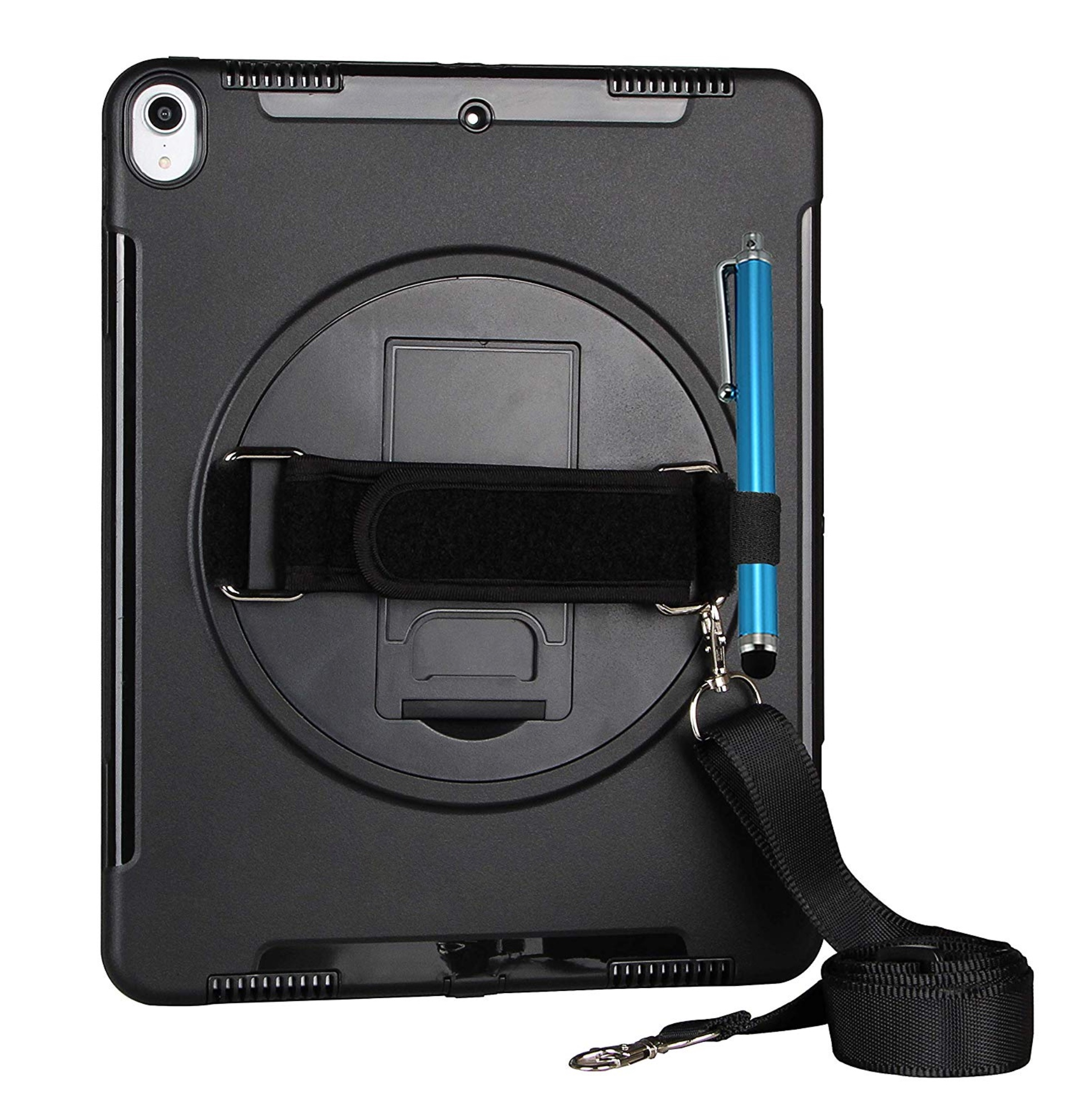 Coque renforcee Sangle main Harnais cou et verre de protection ecran iPad PRO 2018 12.9 3e Gen Monterrey