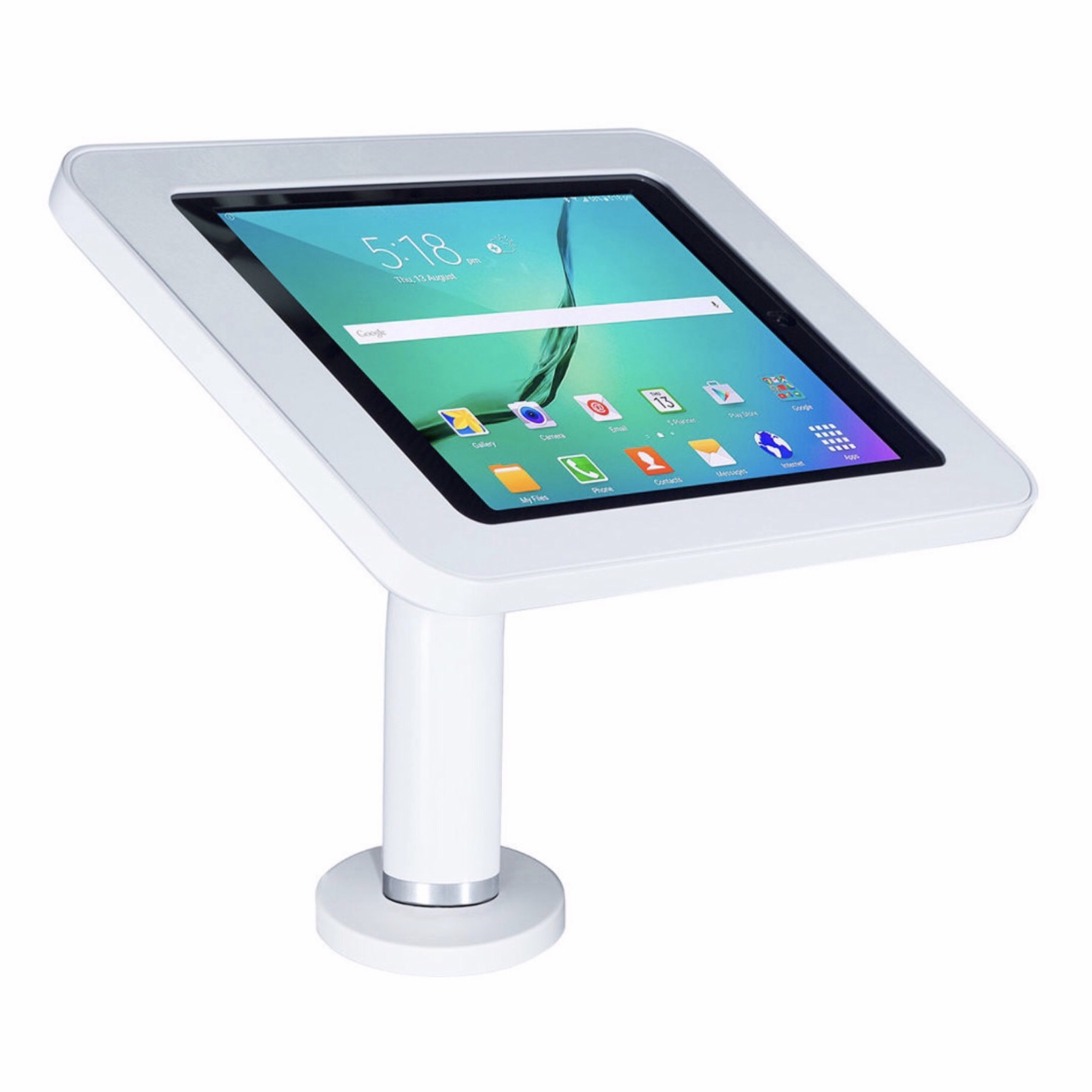 Borne support de table Galaxy TAB S3 et S2 9.7 pouces FullTab Blanc