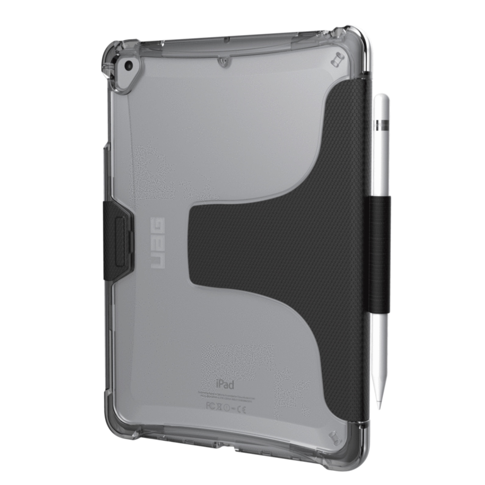New iPAD 9.7 pouces Coque Folio transparente et support stylet Plyo