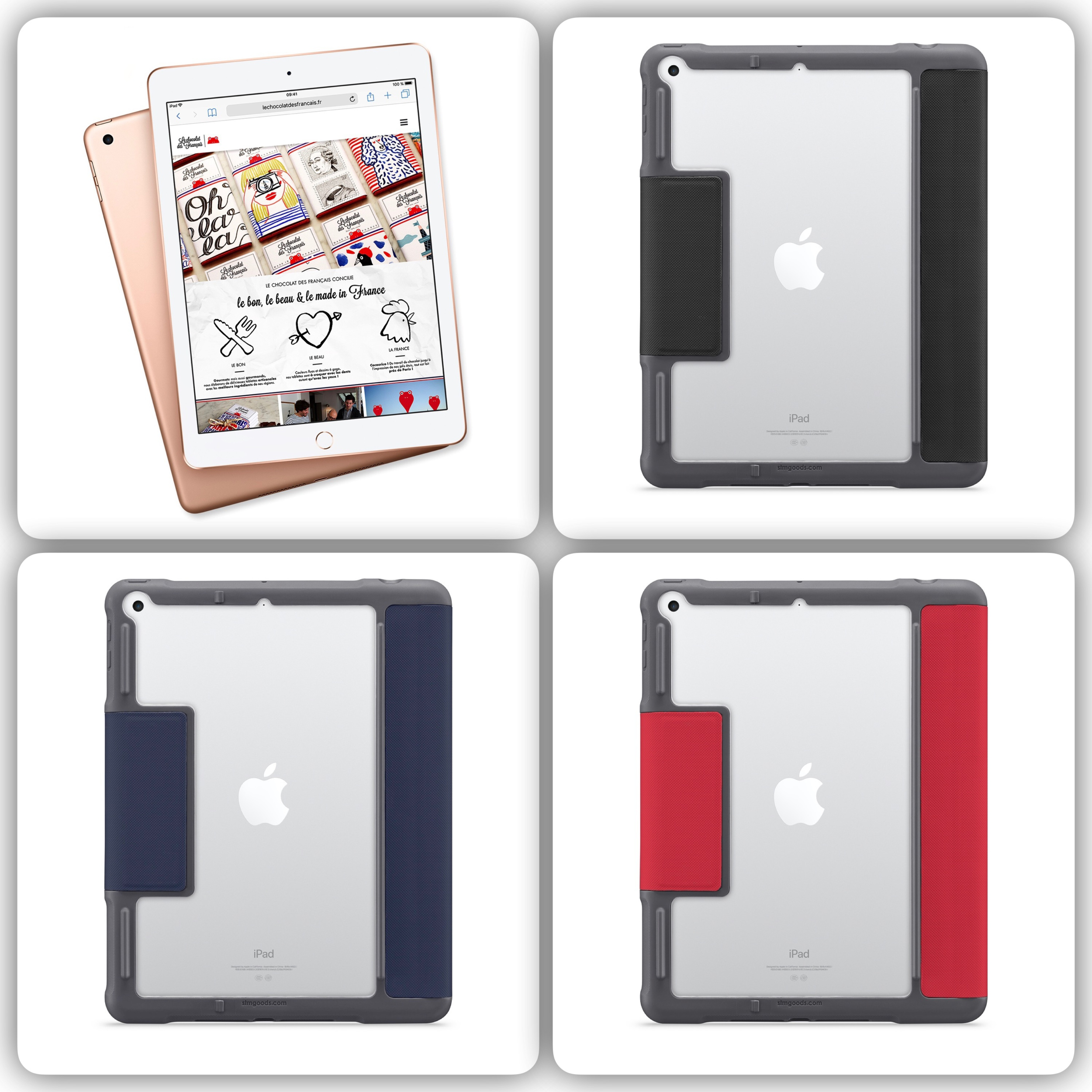 New iPAD 9.7 pouces Etui Folio de protection Dux Plus avec support Stylet