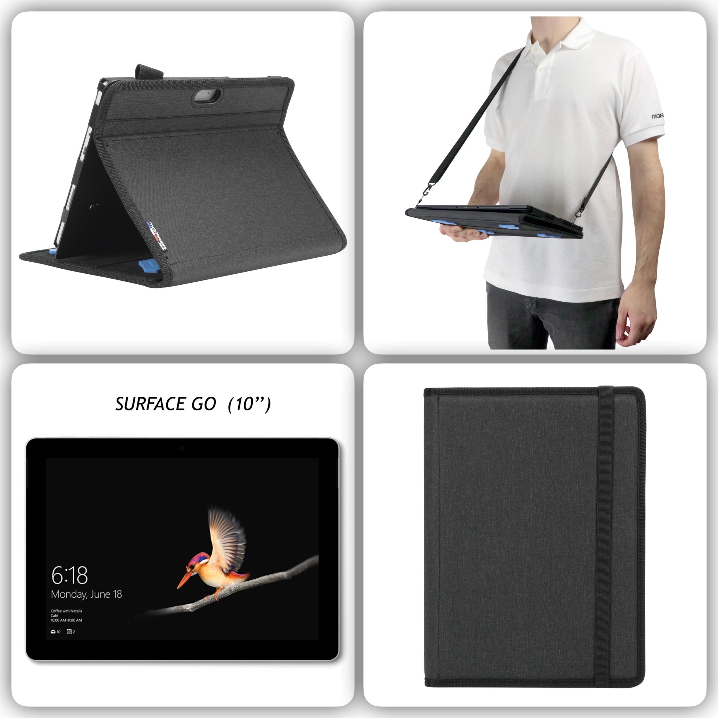 Bundle 4 en 1 Etui renforcé SURFACE GO 10p Pack ACTIV et verre de protection ecran