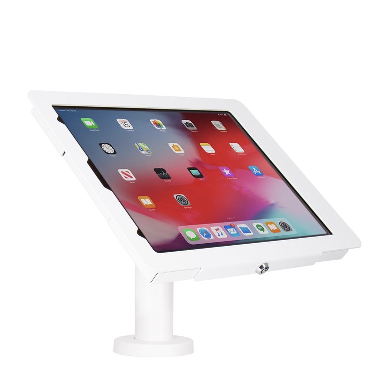 Support Borne de table iPAD PRO 12.9 2018 3e Generation Base light BLANC