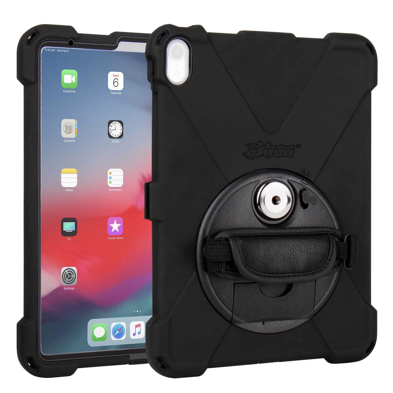 Coque professionnelle 3 en 1 Sangle main rotative film ecran Apple iPad PRO 11 pouces Premium Connect