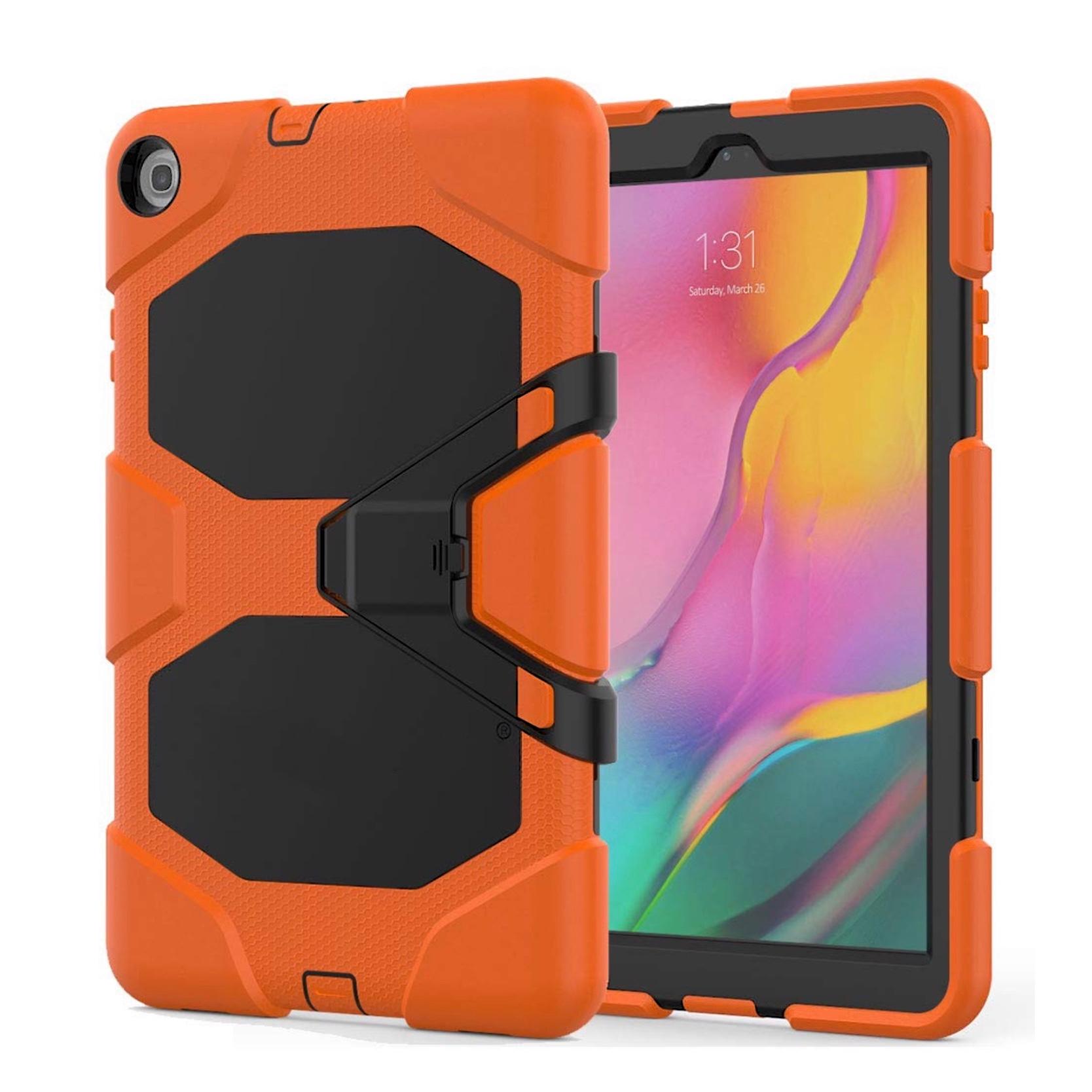 Pack 2 en 1 Galaxy TAB A 2019 10.1 pouces Coque renforcee Vegas Orange et Verre de protection ecran