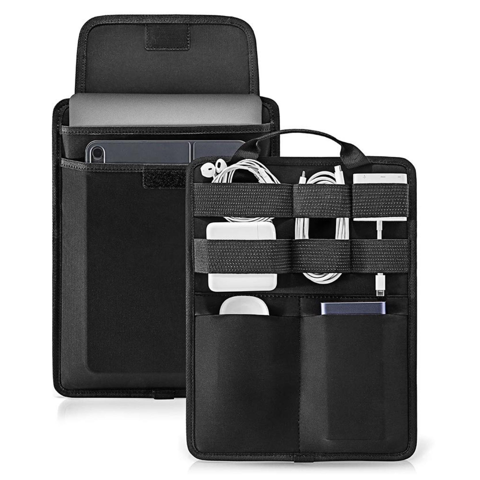 Sacoche Universelle 10.5 a 13.5 pouces Rangement Cables Batteries et Accessoires Marbella Noir