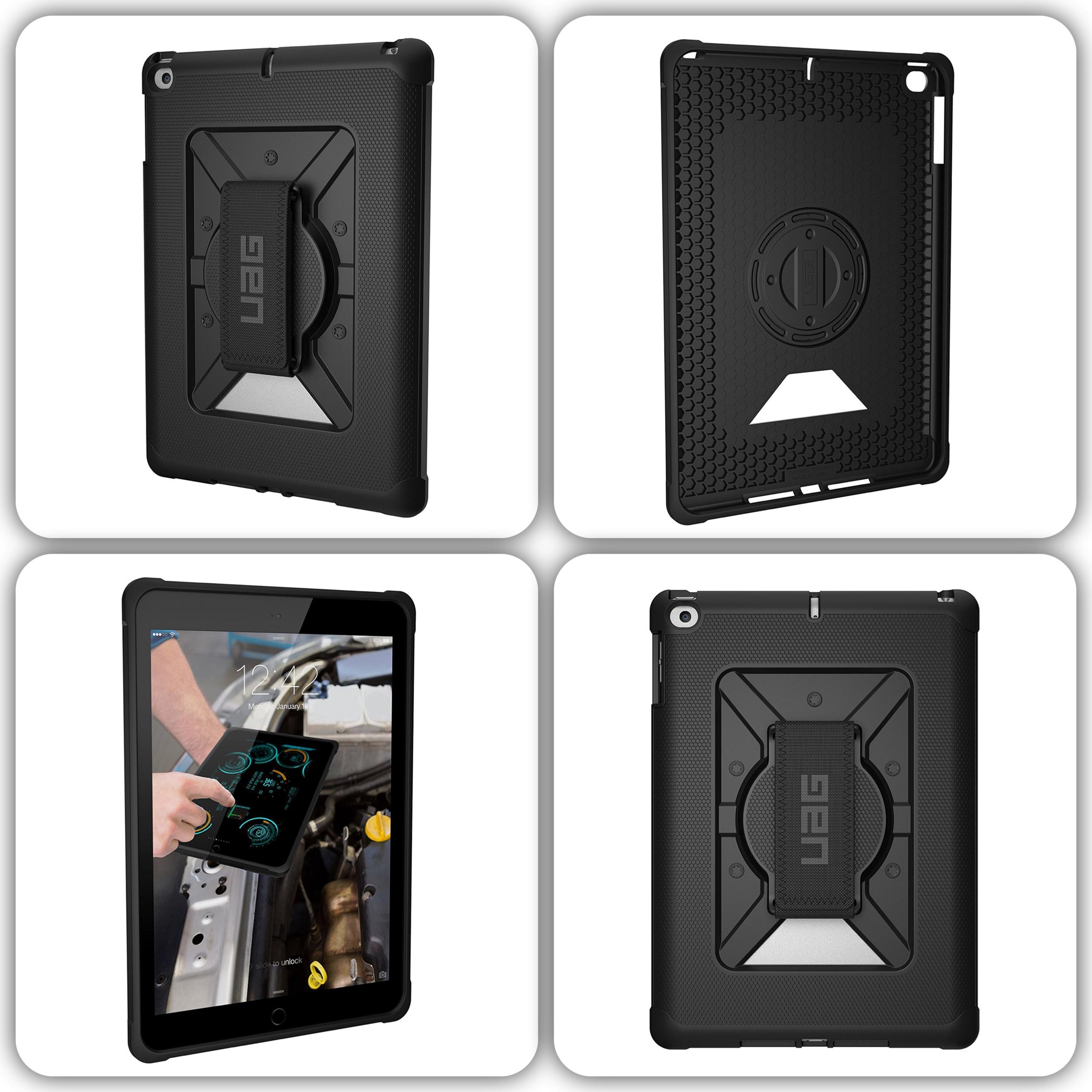 Pack 2 en 1 New iPad 9.7 pouces Coque renforcee Harnais main Metropolis et verre renforce protection ecran
