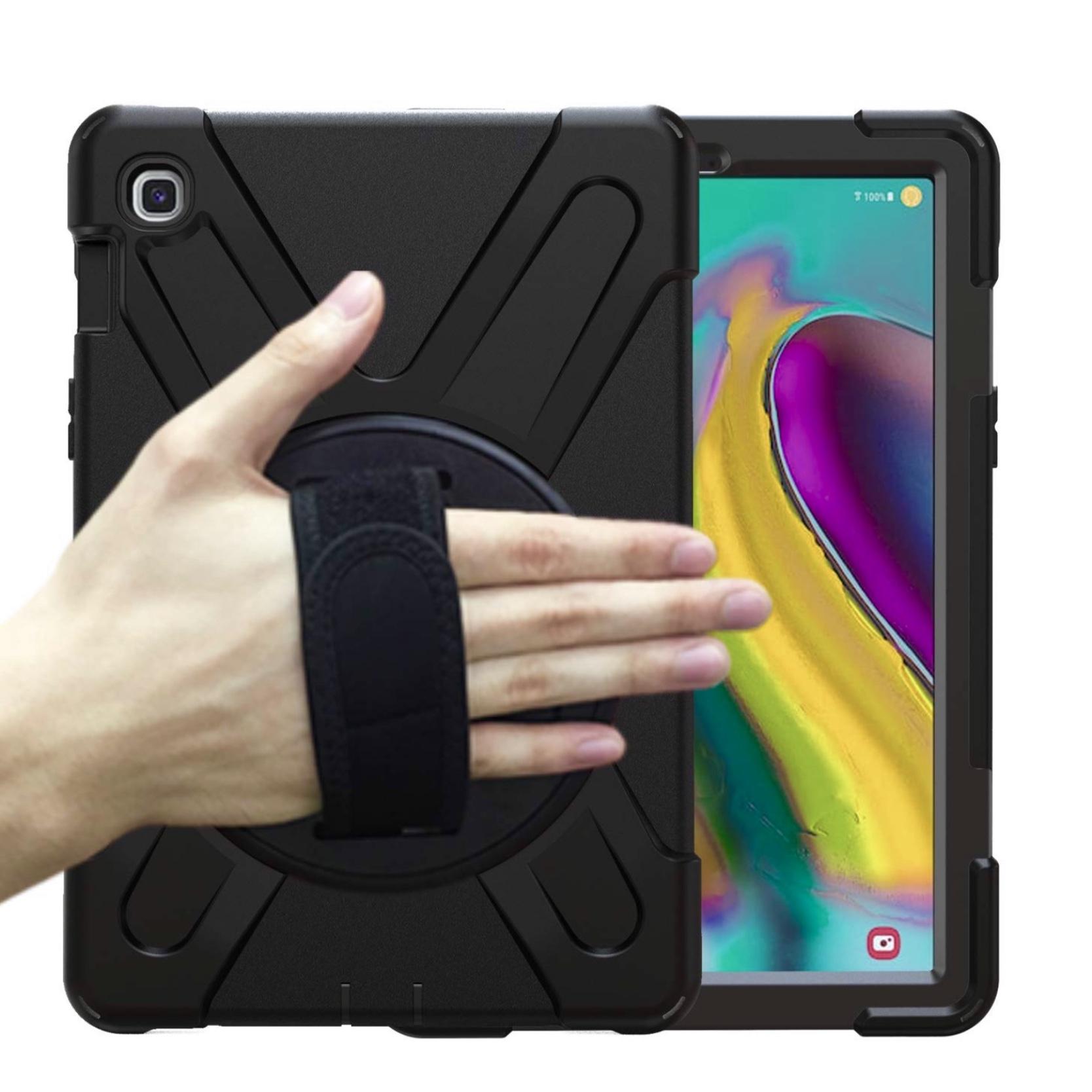 Pack Galaxy TAB S5e 10.5p 4 en 1 Coque renforcée Verre ecran Sangle main et harnais tour de cou