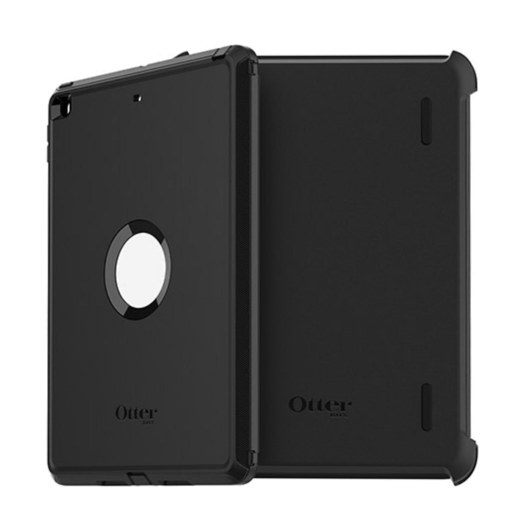 iPAD 10.2 7e Gen Coque renforcee et film rigide ecran Defender Series Noir