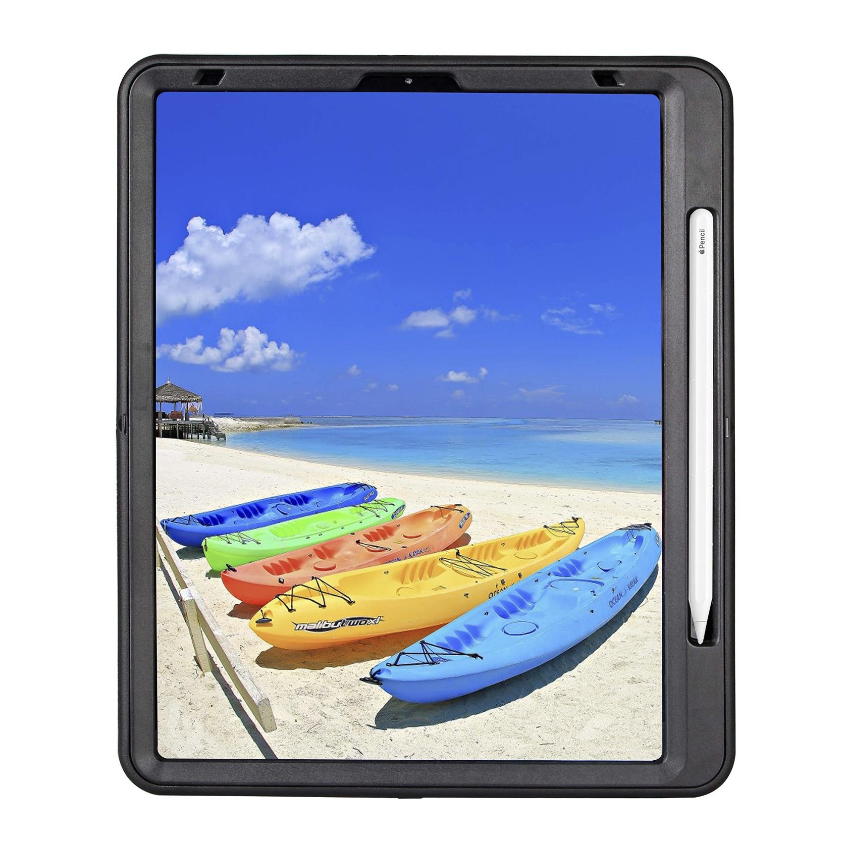 iPad PRO 12.9 3e Gen Coque de protection Support Stylet Sangle main et Tour de cou Optima