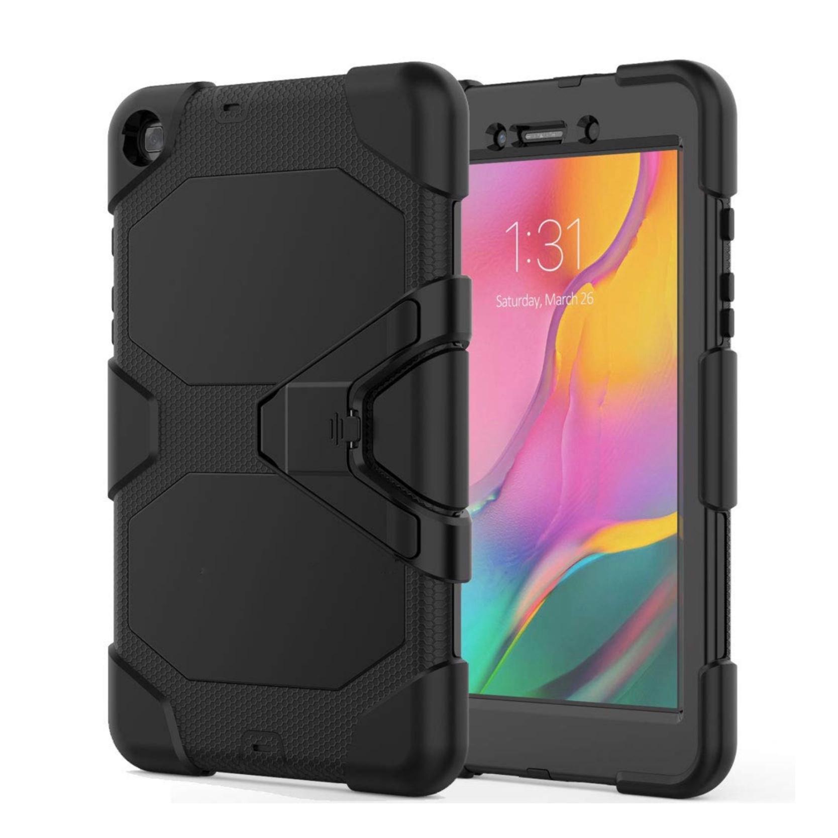 Galaxy TAB A 2019 8 pouces SM T290 Coque renforcee et film rigide ecran Vegas Noir