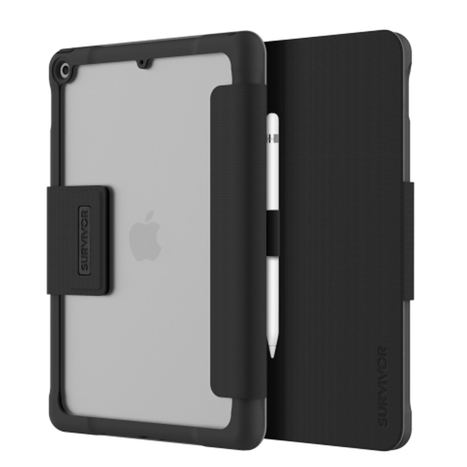 Survivor Tactical iPAD 10.2 7e Gen Etui Folio renforce Transparent