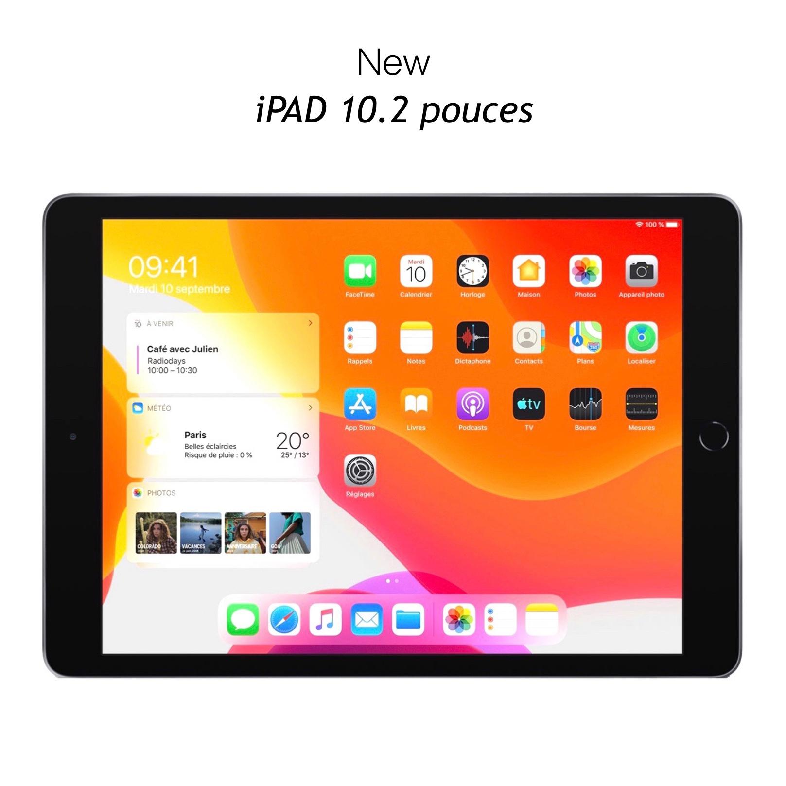 iPAD 10.2 pouces 7e Gen Pack de 2 x Verres renforces de protection ecran Premium 9H