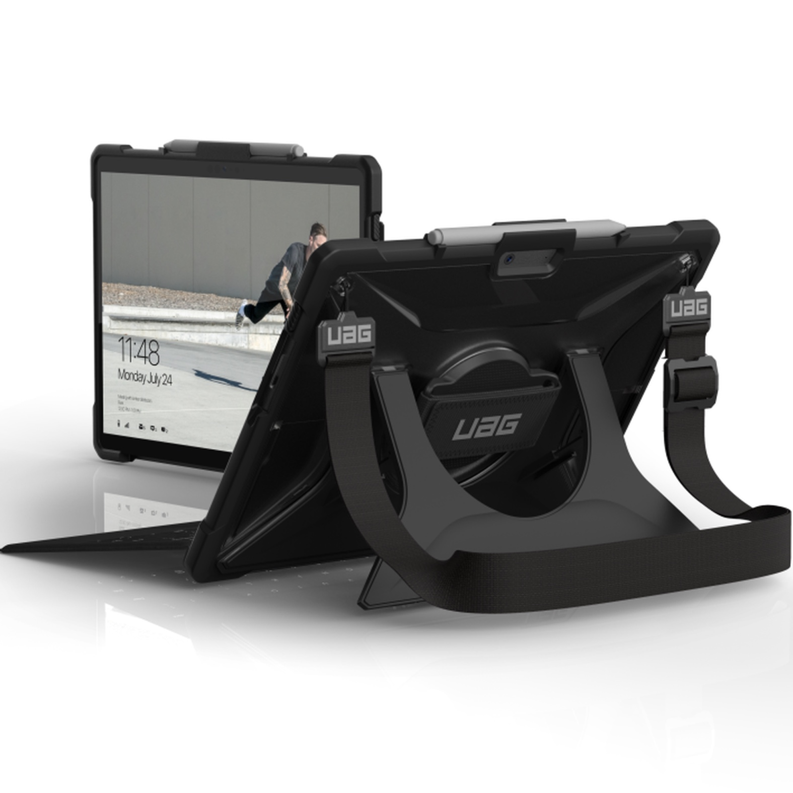 Duo 2 en 1 SURFACE PRO X 13p Coque renforcee Secure et verre de protection ecran
