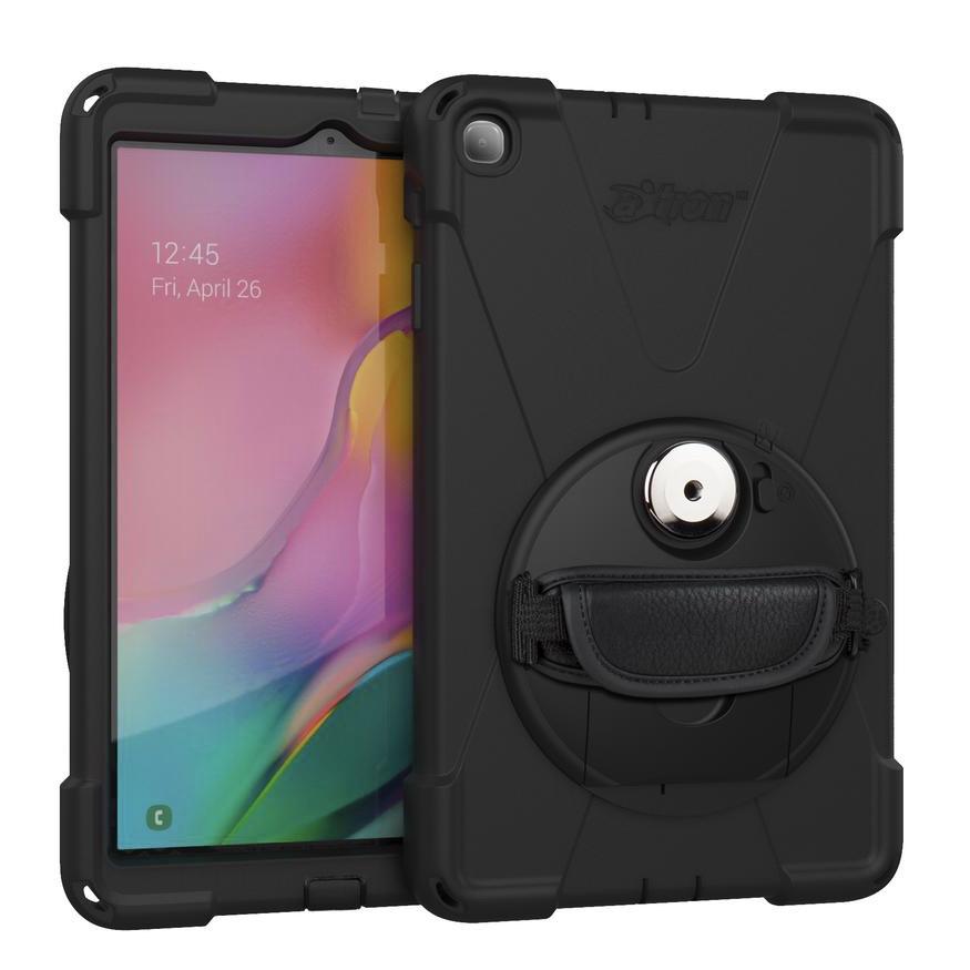 Pack Trio 3 en 1 Coque Pro renforcee Sangle main et film ecran Samsung Galaxy TAB A 2019 T510 10.1 pouces Premium Connect
