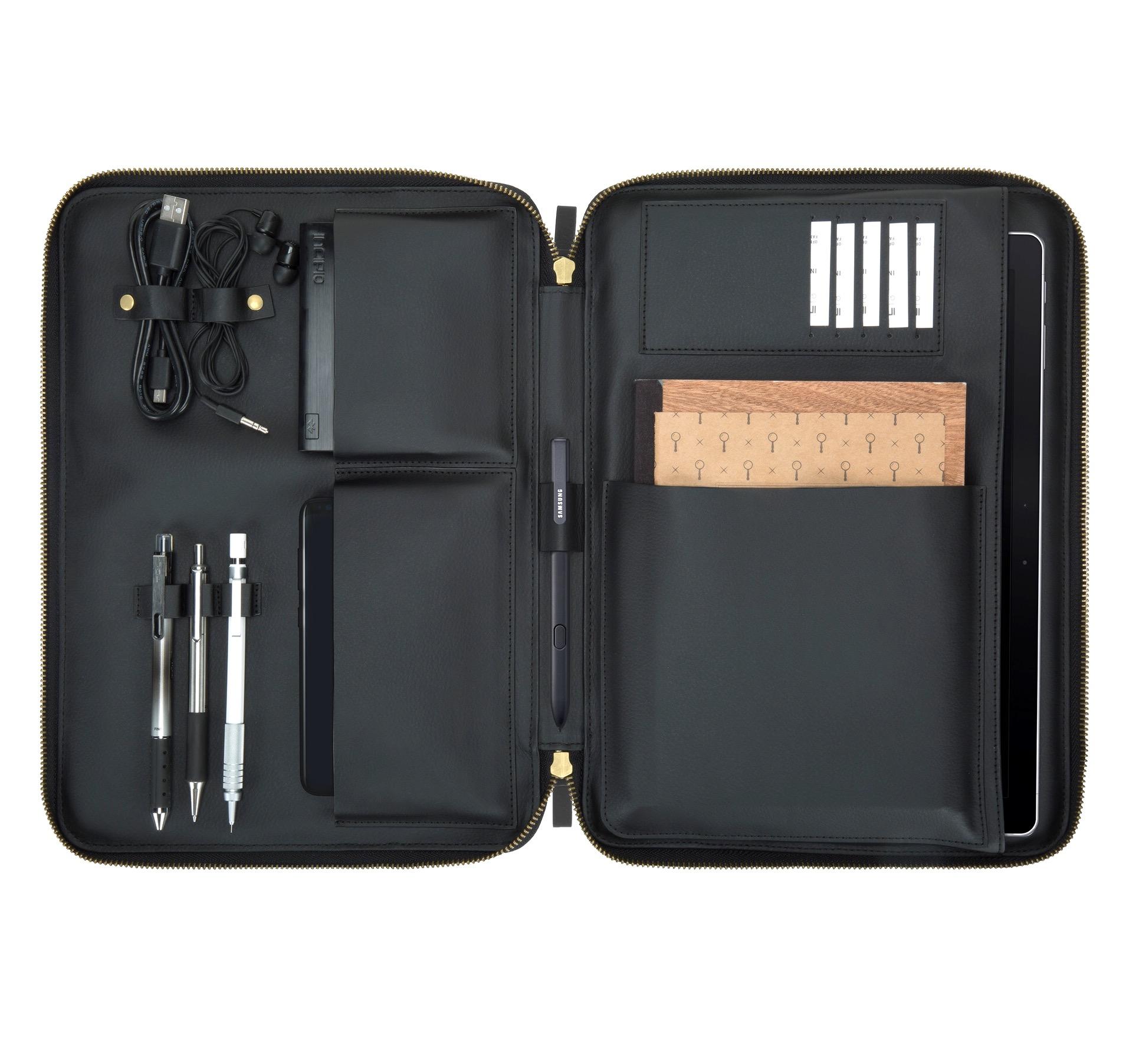 Housse de protection Multi poches Galaxy TAB 9.7 a 10.5 pouces Esquire Gris et noir