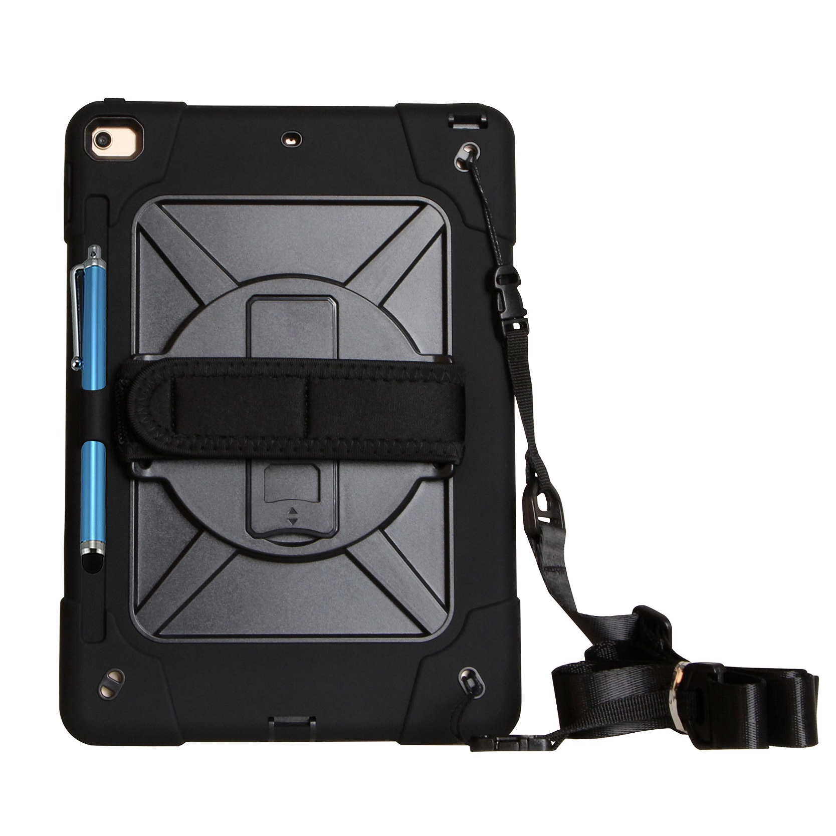Coque de protection PRO Sangle main rotative et harnais epaule Apple iPAD 10.2 pouces