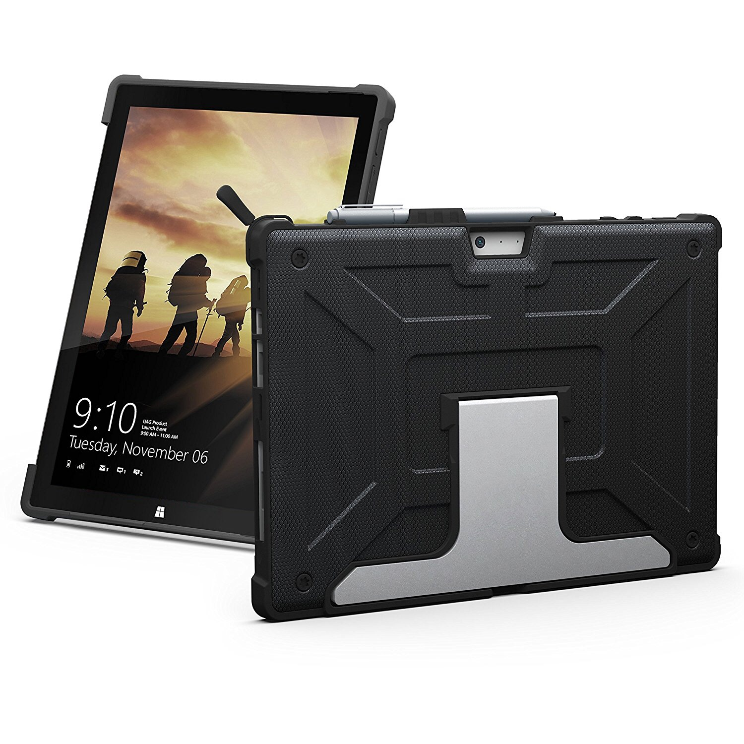 Pack 2 en 1 Surface PRO 7 et PRO 6 12.3p Verre ecran renforce Coque de protection Multi angles Metropolis
