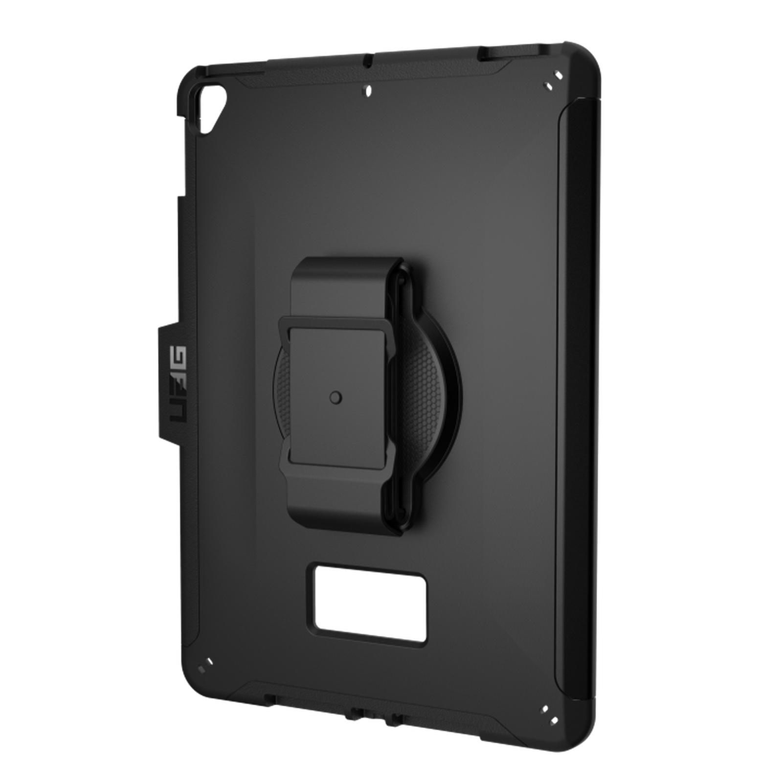 Coque renforcee iPAD 10.2 pouces Gamme professionnelle avec Harnais main Noir