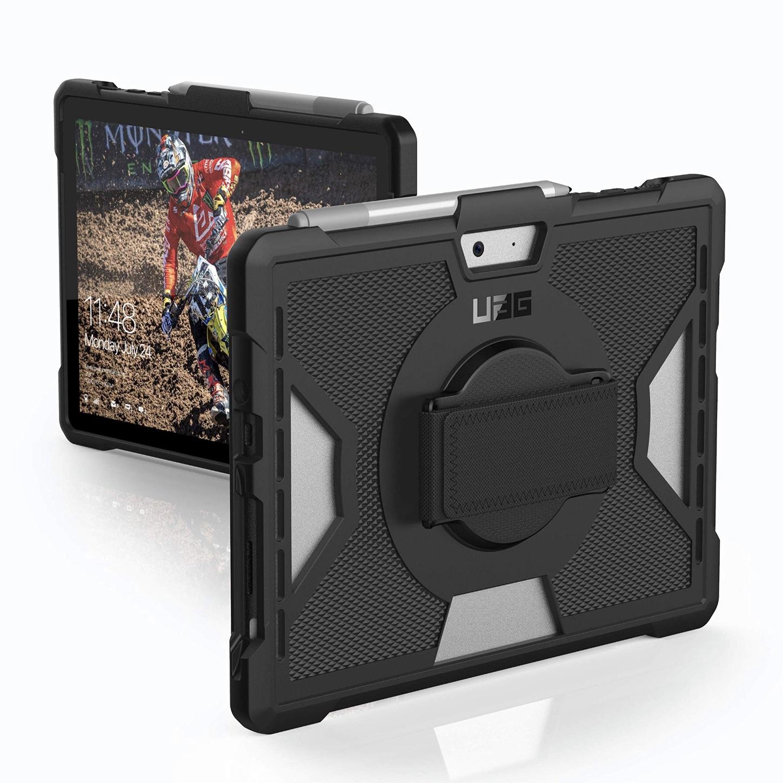 Duo 2 en 1 Coque renforcee Surface GO avec Sangle main et verre de protection ecran Bulk
