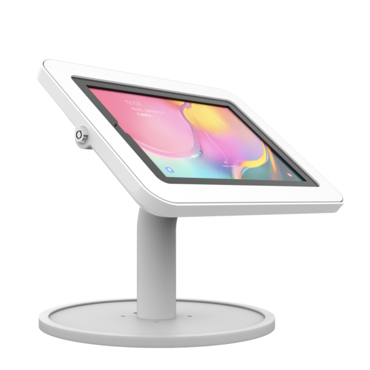 Borne de table securisee Galaxy TAB A 2019 10.1 T510 Base Light BLANC