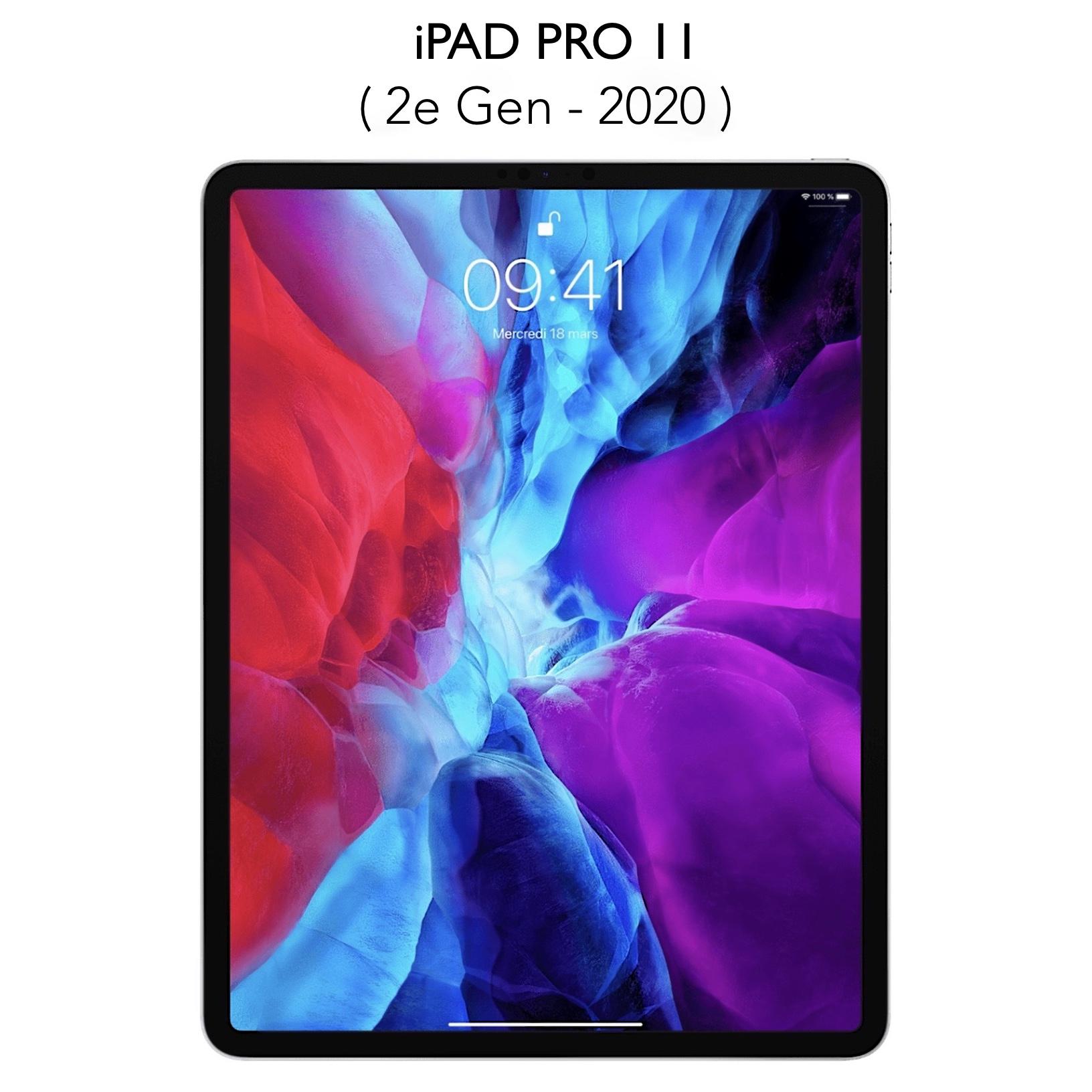 Pack de 2 verres iPAD PRO 11 pouces 2e Gen 2020 Protection ecran Premium