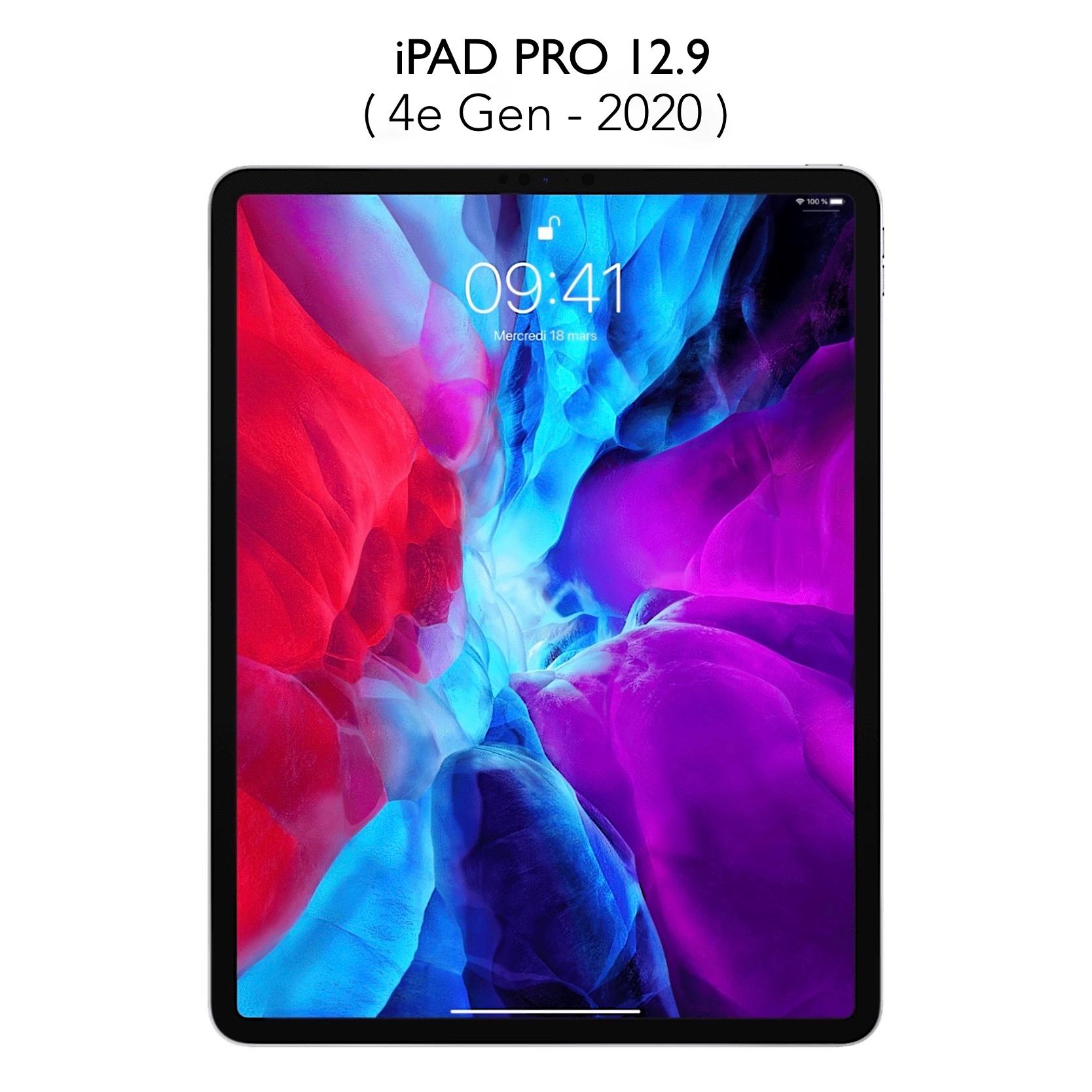 Pack 2 x Verres iPAD PRO 12.9 pouces 4e Gen 2020 Protection ecran Premium