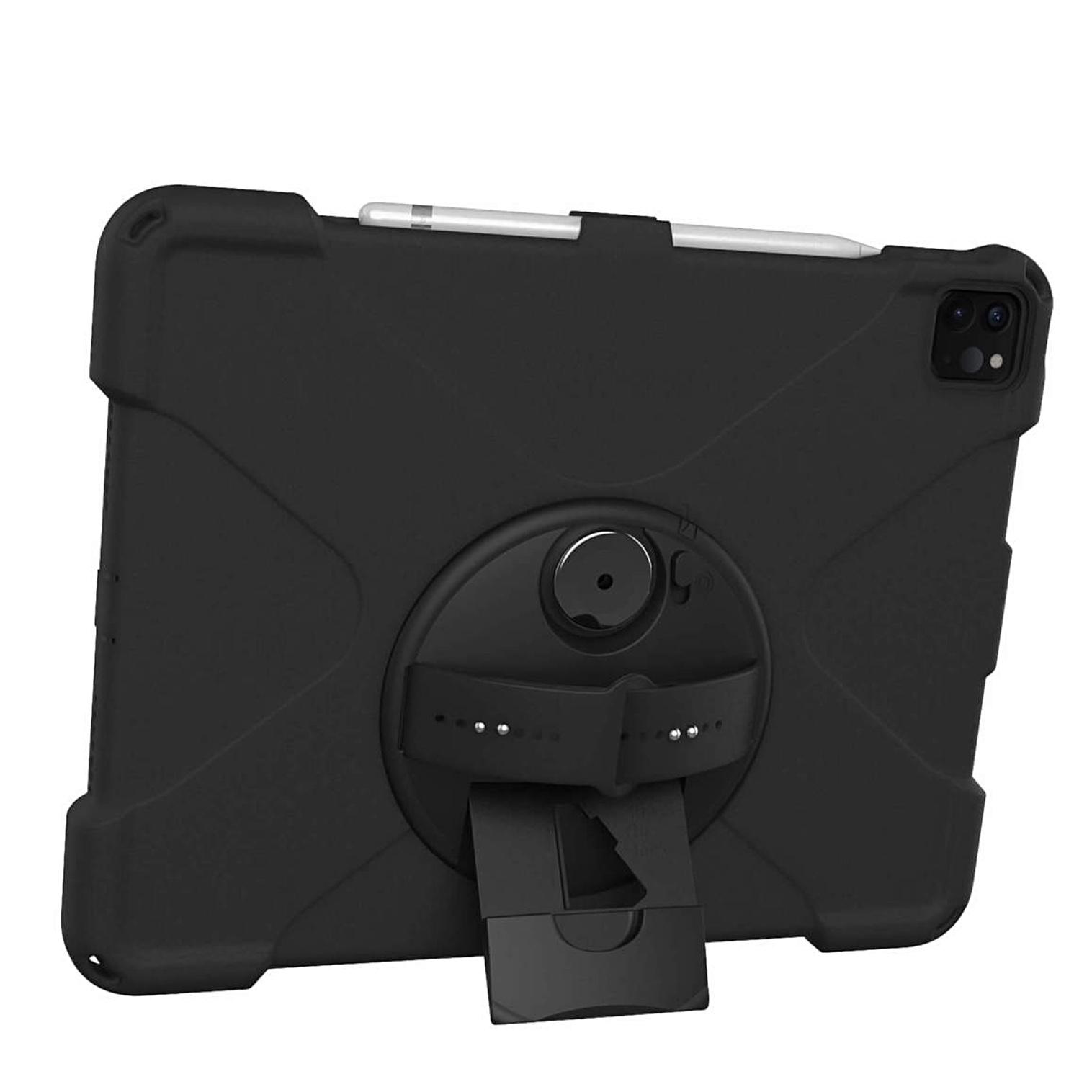 Premium Connect iPAD PRO 2020 12.9 pouces Coque renforcee Film rigide ecran et Sangle main