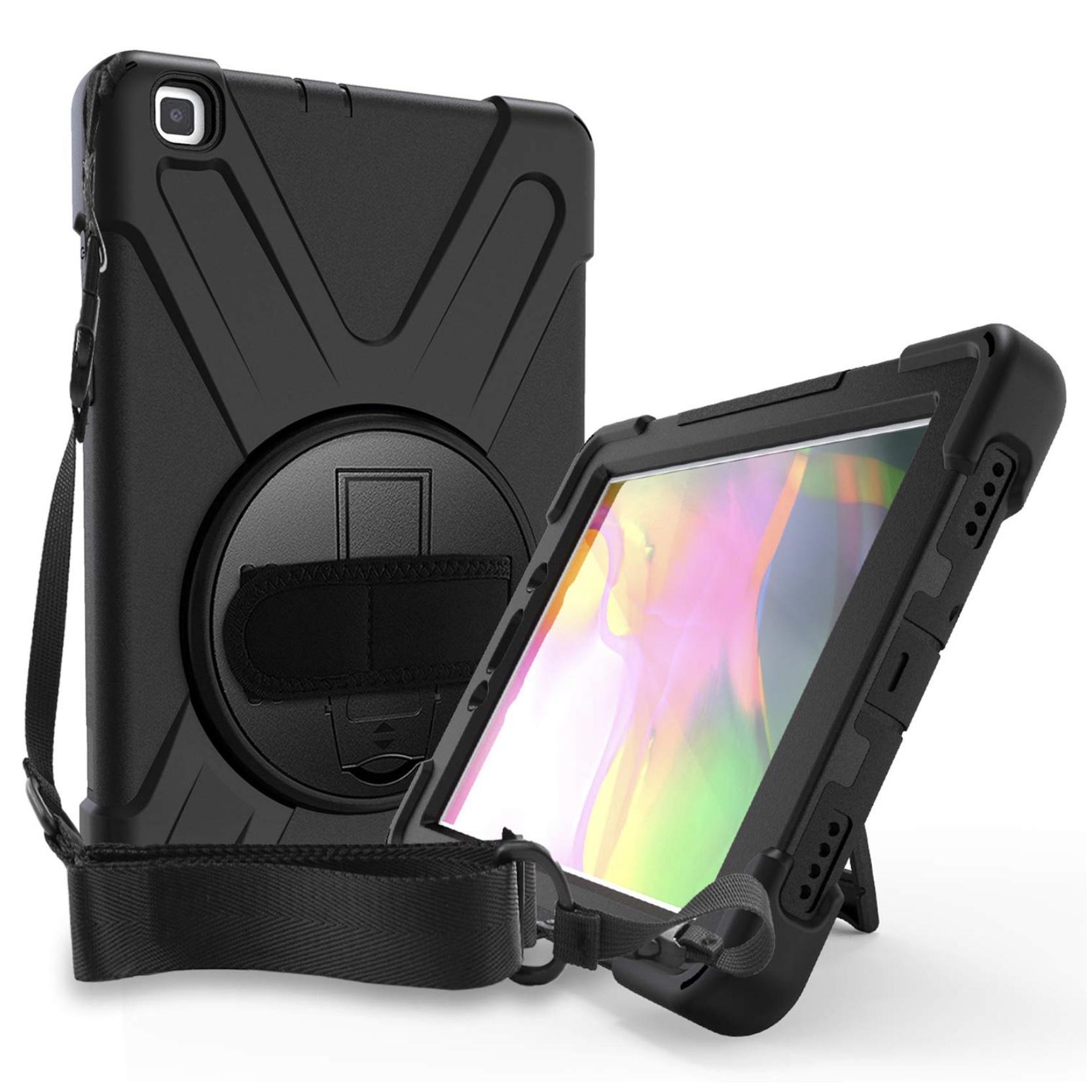 Galaxy TAB A 8 pouces 2020 SM T290 Coque renforcee Harnais main rotatif et Sangle epaule Vancouver