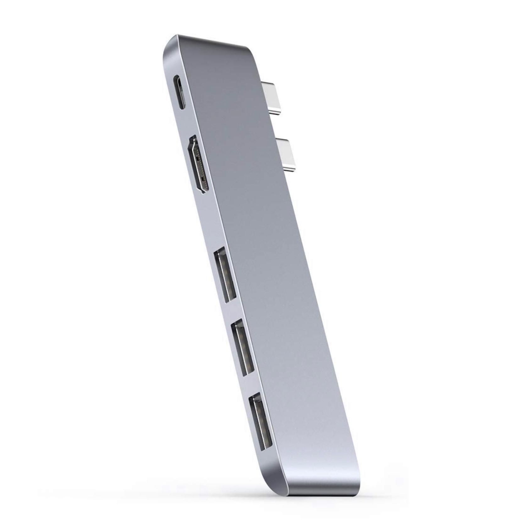 MacBook PRO 13 PRO 16 et MacBook AIR 13 Replicateur de ports Aluminium 5 en 1 Dual