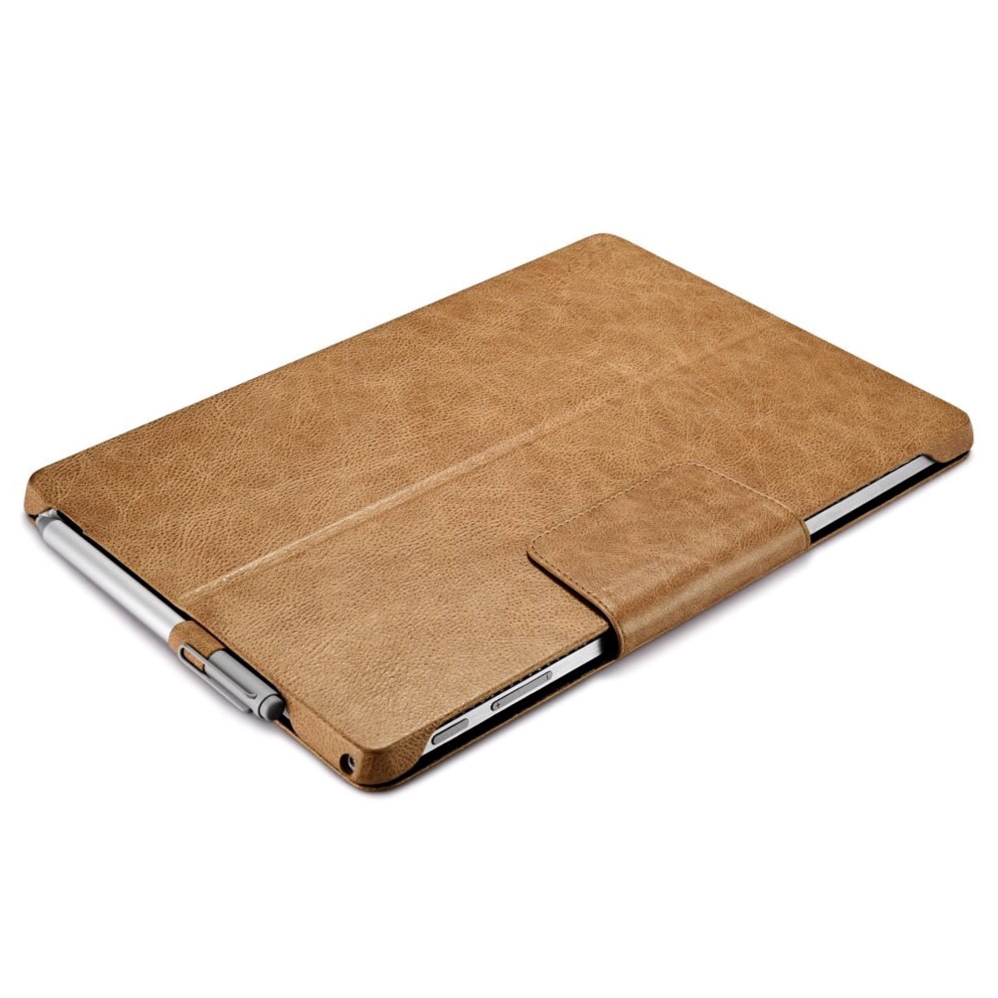Microsoft Surface PRO 7 et Surface PRO 6 Etui Cuir veritable Firenze CAMEL