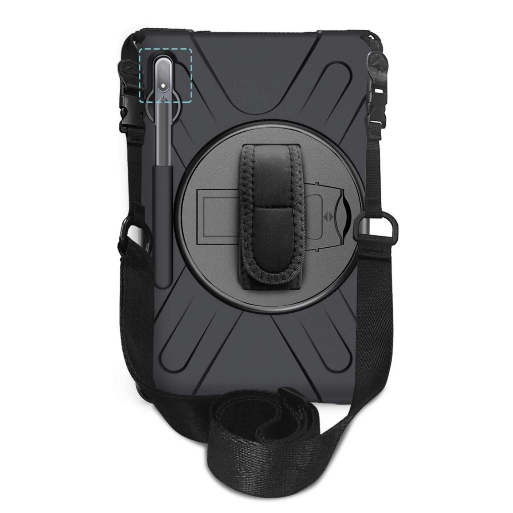 Samsung Galaxy TAB S7 11 pouces Pack 3 en 1 Coque Vancouver Sangle main rotative et verre ecran